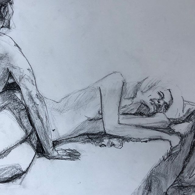 Sketches in charcoal
