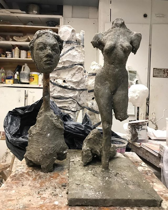 2 new cement pieces!!! Finally some sculpture!