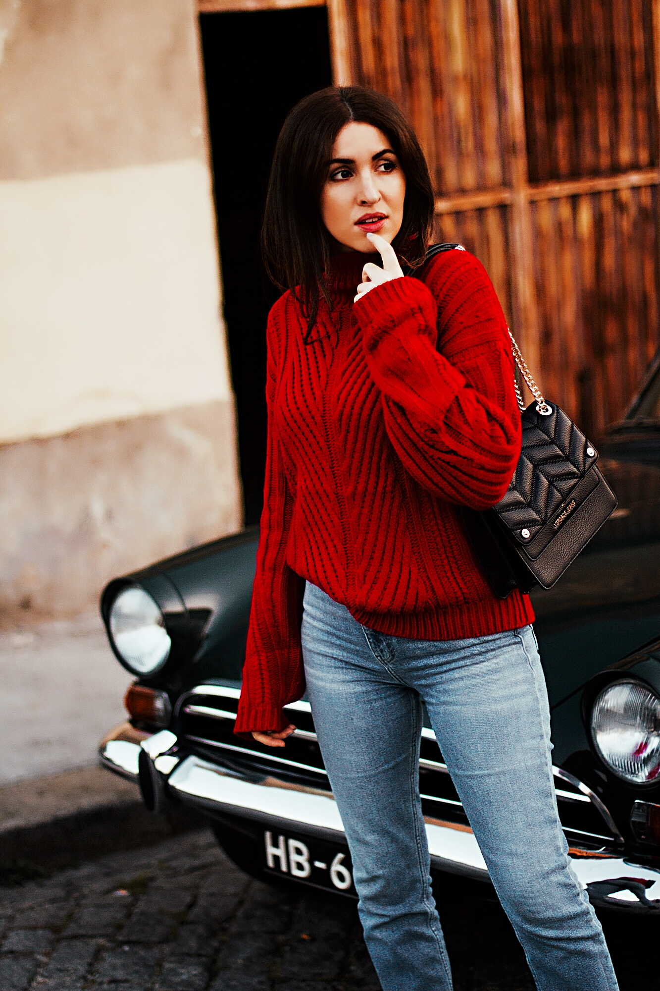 Kate Caviar x Red Sweater