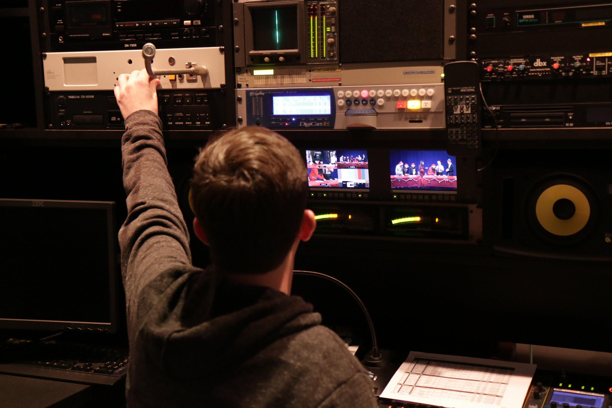 BTS Hofstra Audio Control Room