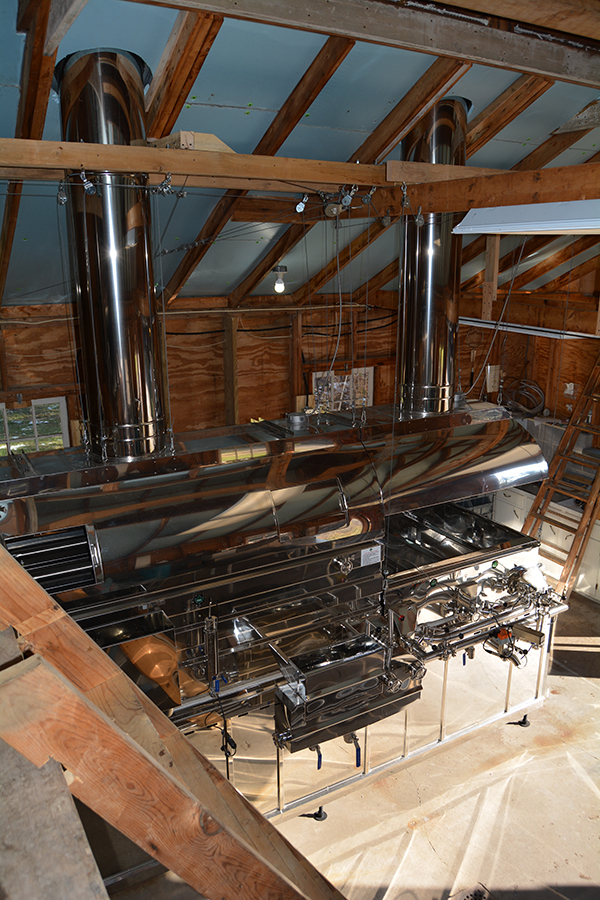 View of evaporator from above