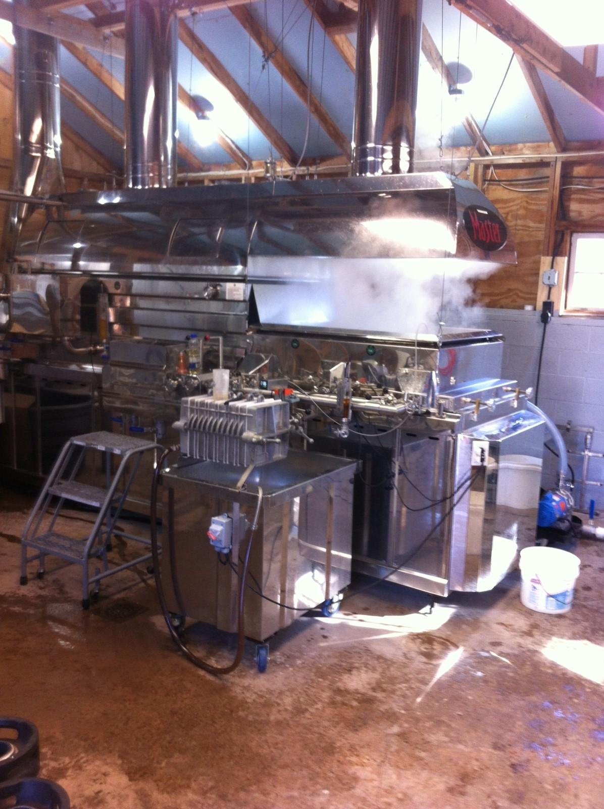 The evaporator boiling the sap