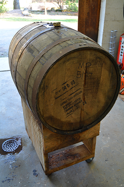 Pure Maple Syrup is aged in authentic Kentucky bourbon barrels
