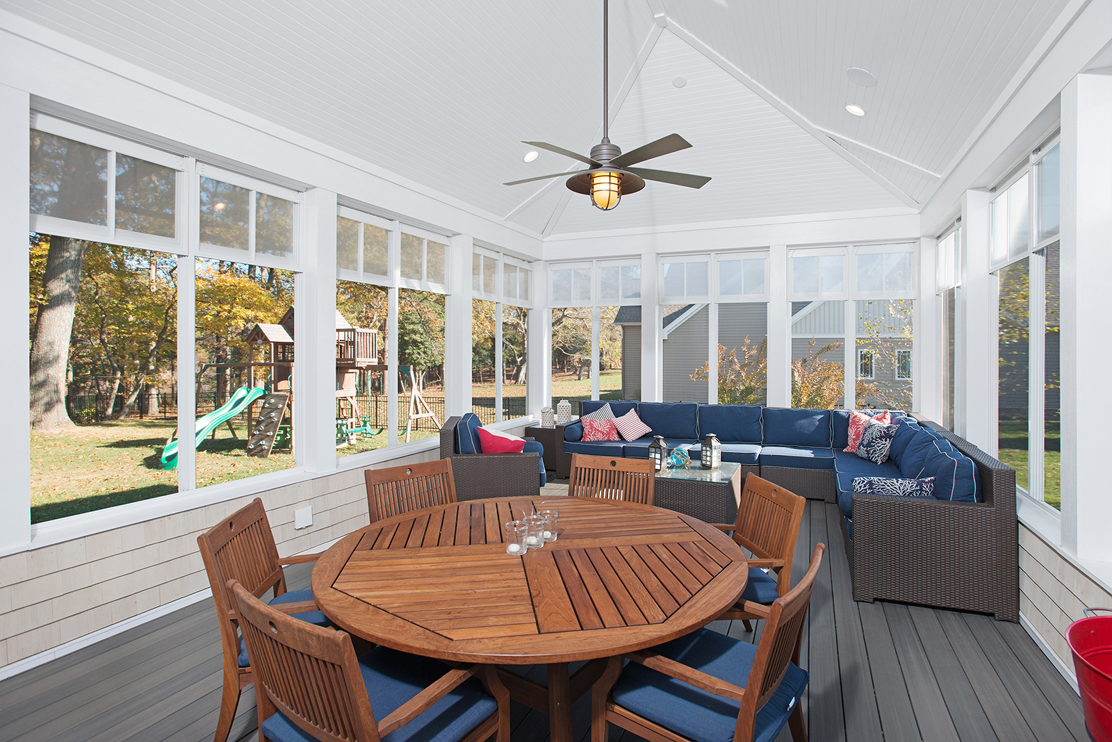 Vaulted Porch Ceiling