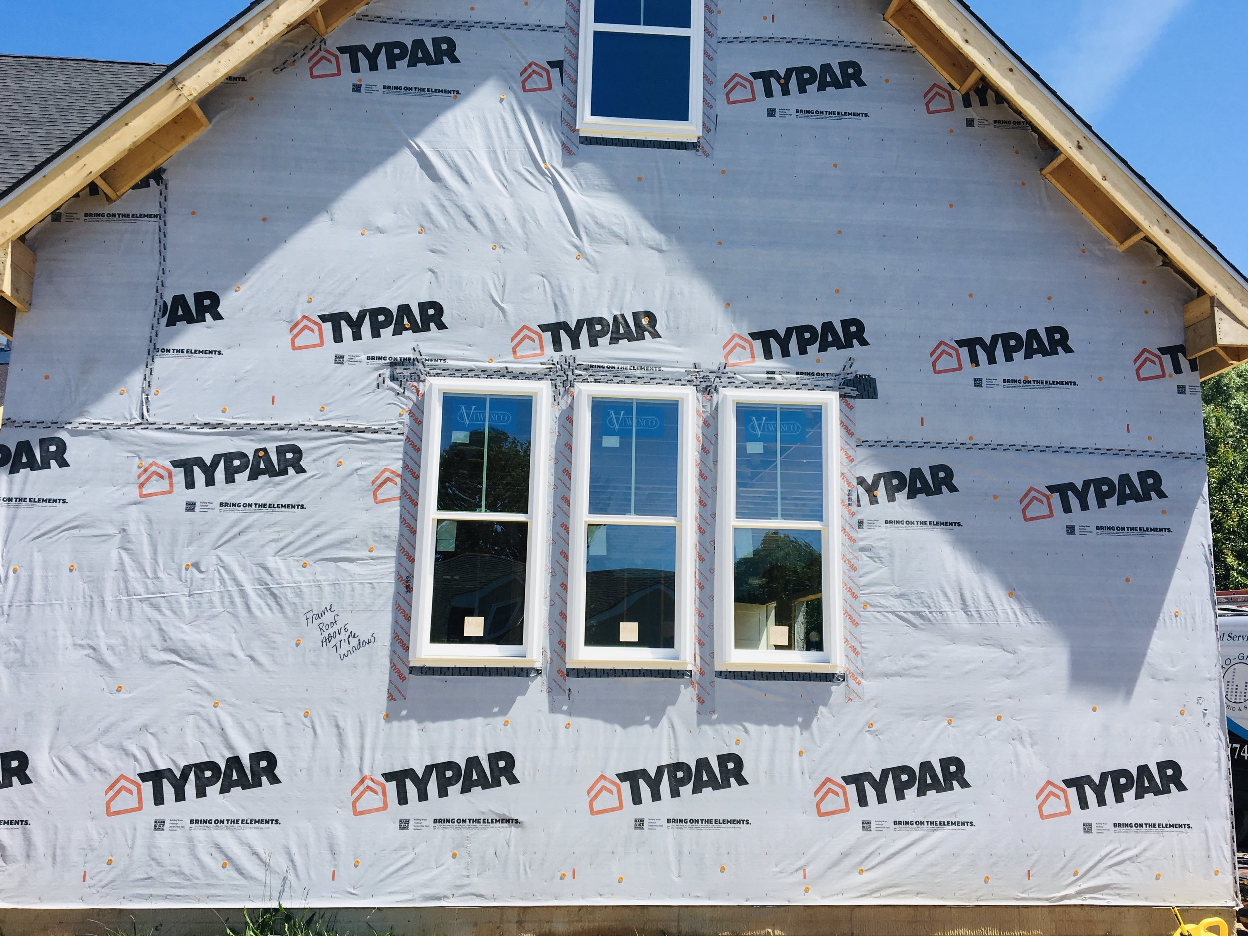 Typar Housewrap for a Vinyl Sided Home