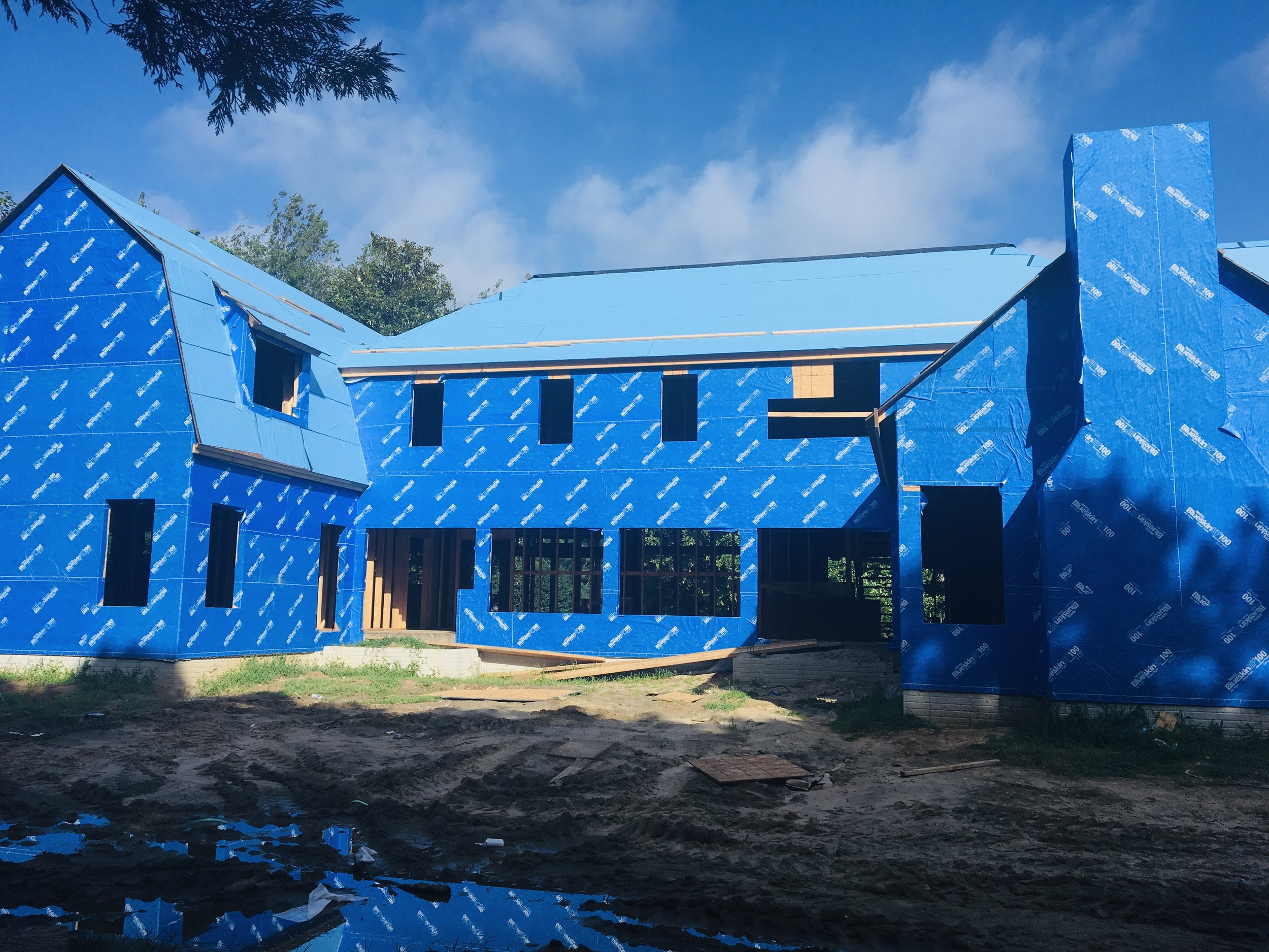 Blueskin Housewrap for a Cedar Sided Home
