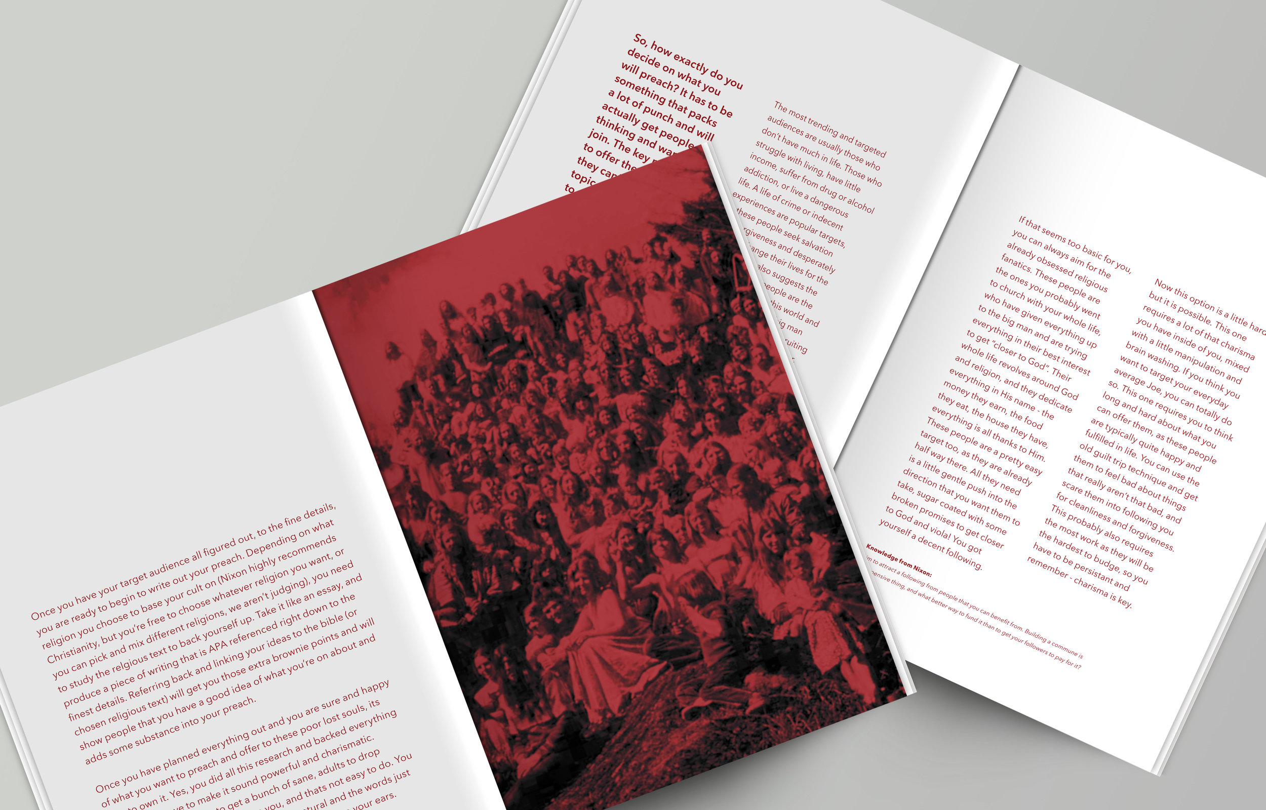 The Cult Bible   A satirical print publication for the aspiring cult leader.