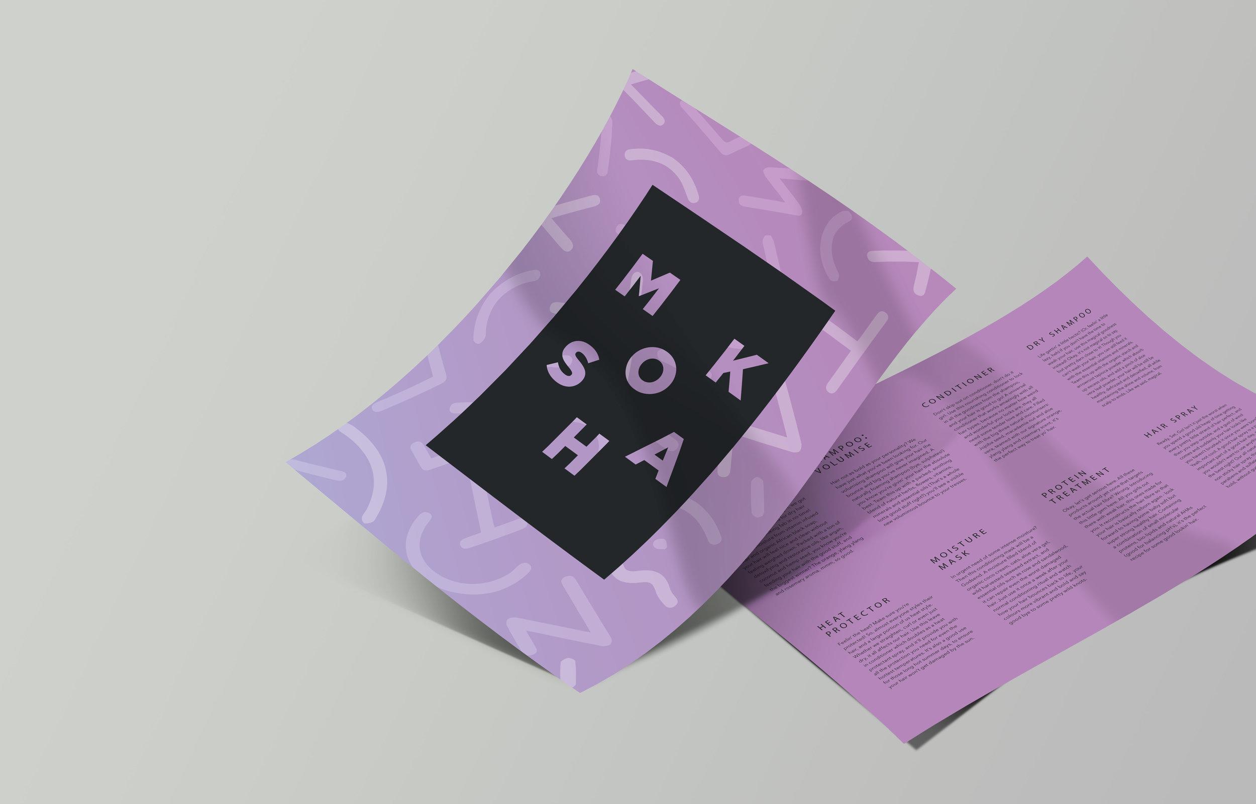 Moksha Haircare   Brand identity for Moksha, the organic haircare brand that packs a punch.