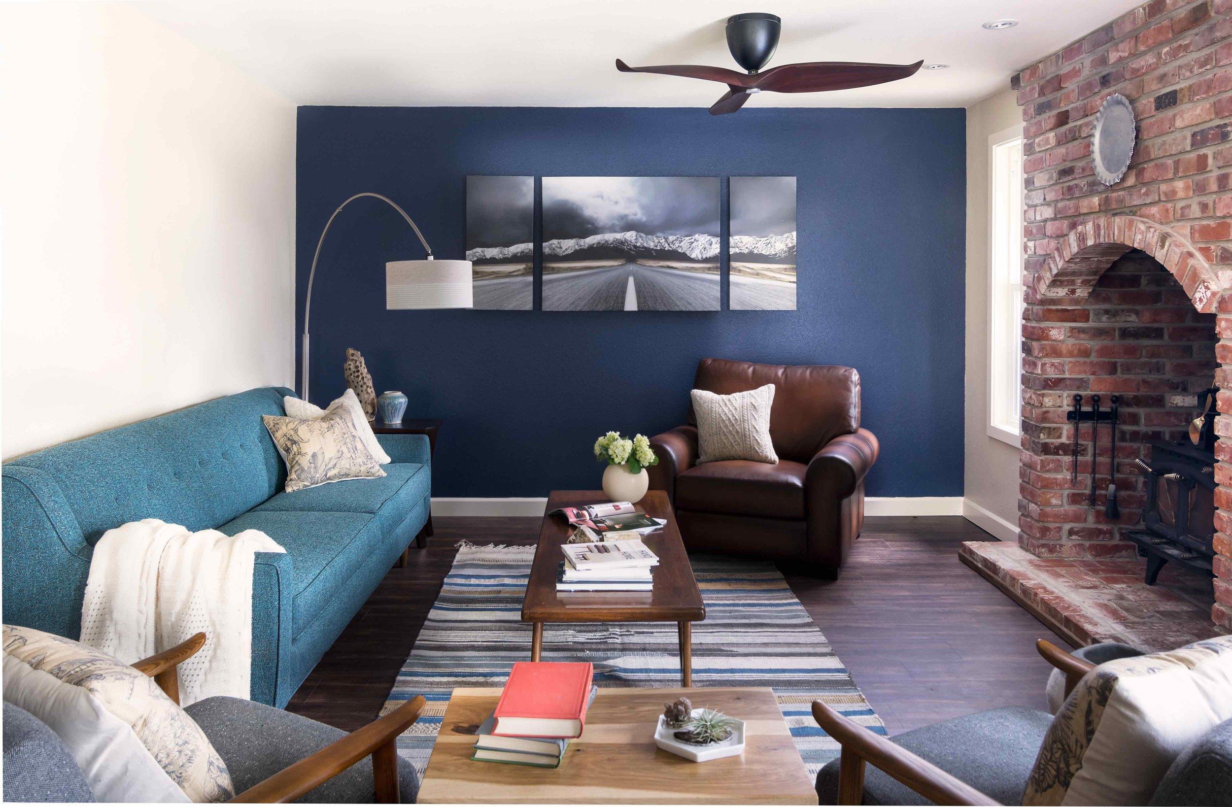 Eclectic rustic living room design everett wa