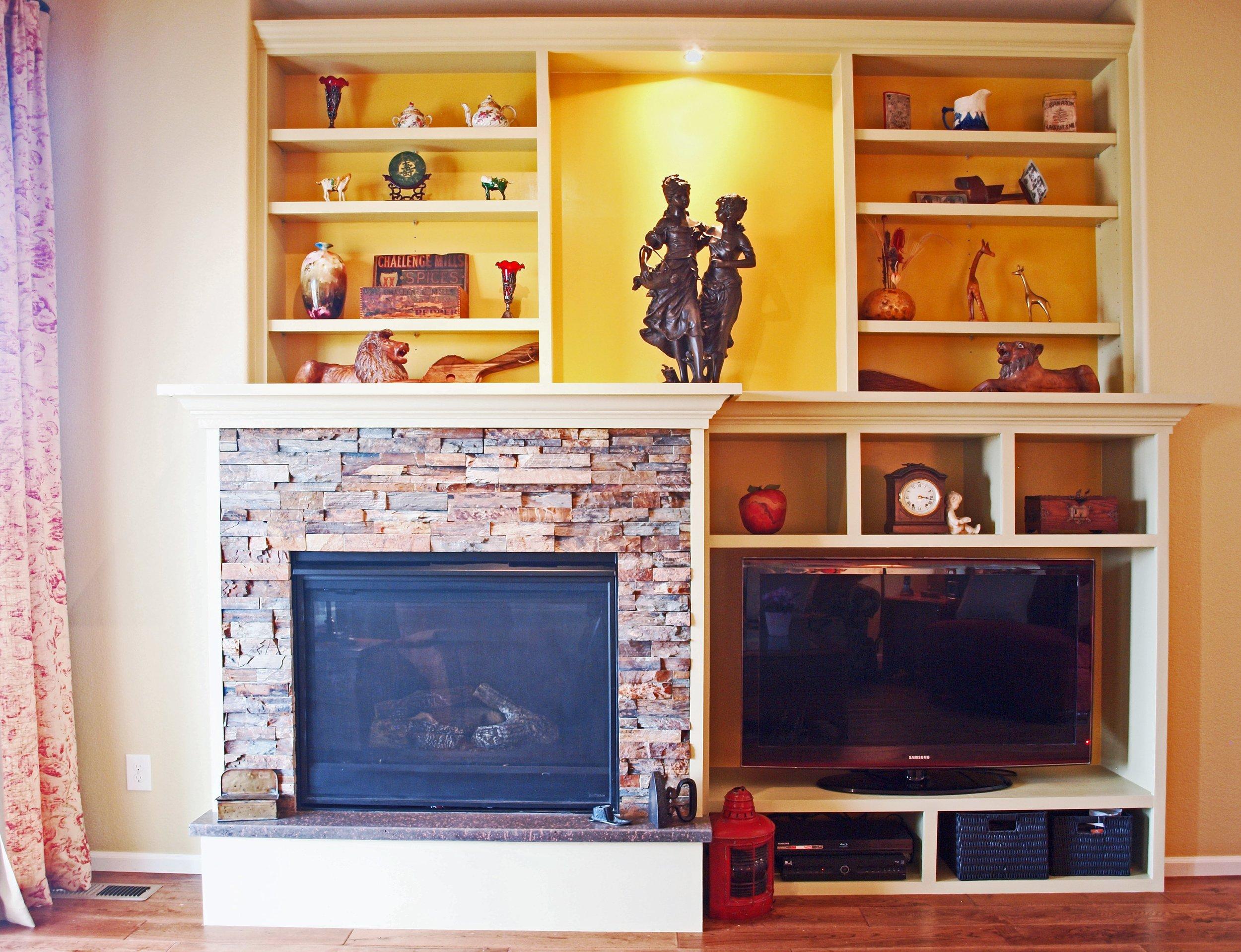 fireplace built ins design
