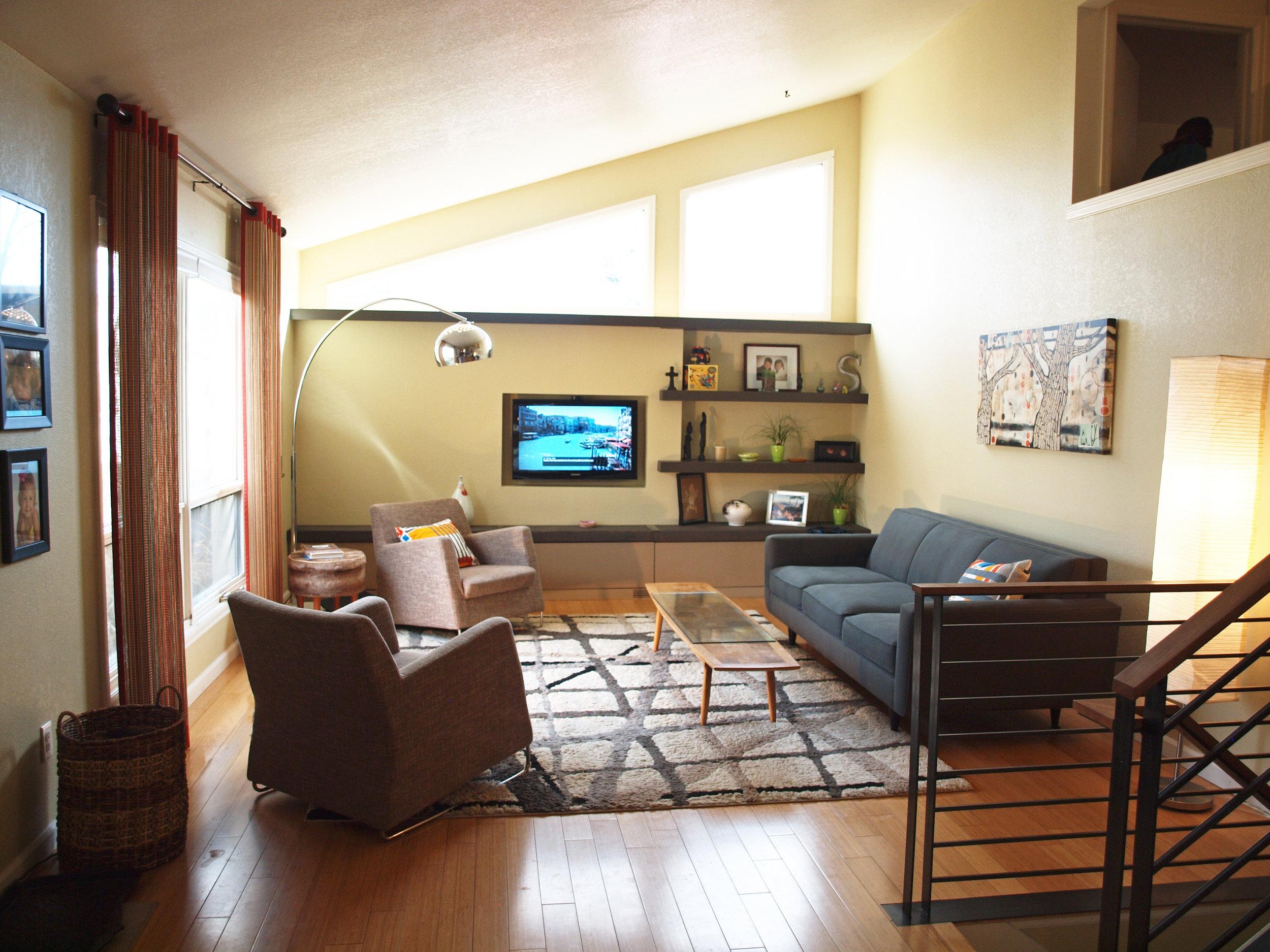 living room design  mid century modern