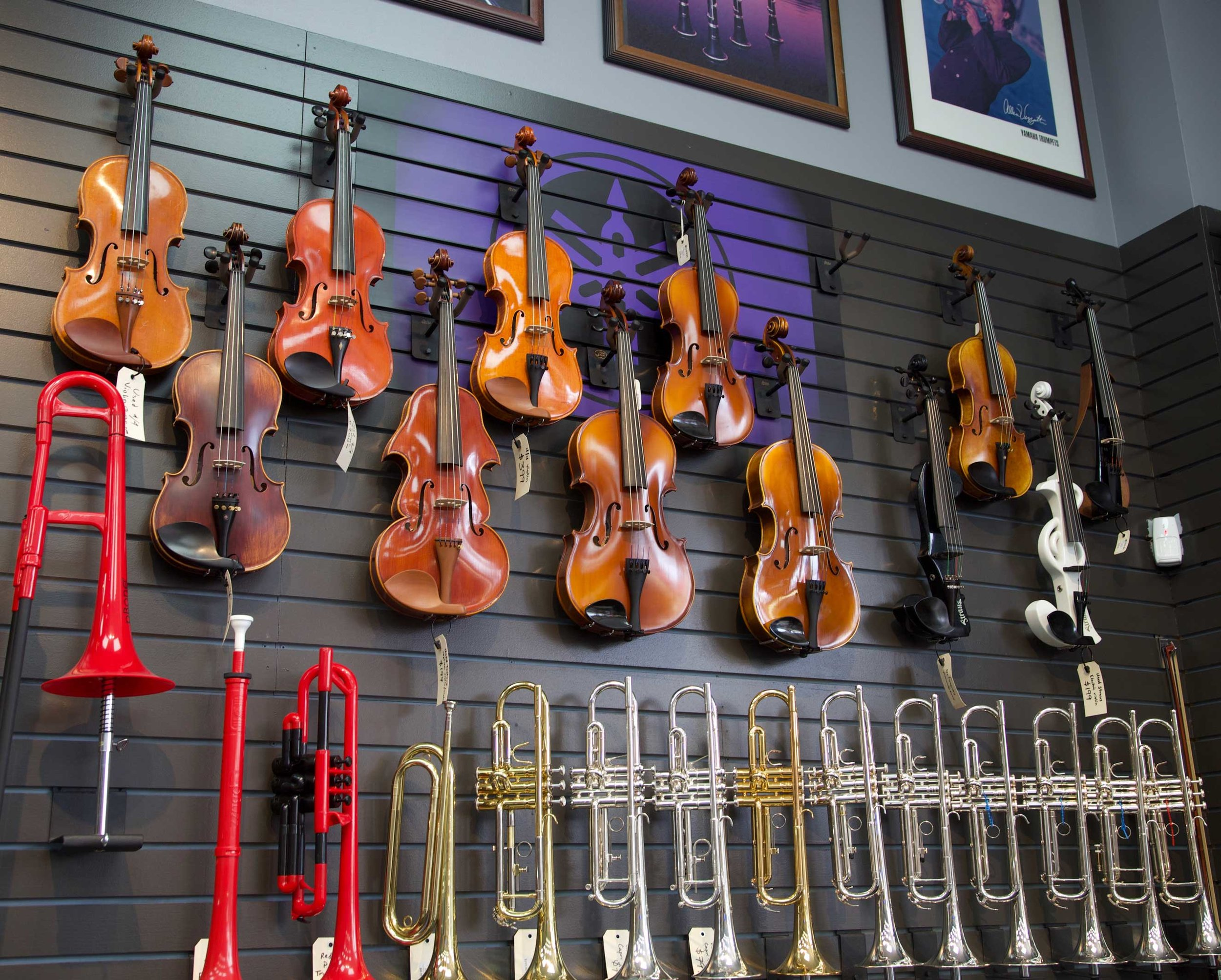 Band/Symphony - Trumpets, violins, whatever band or symphony instrument new or used you are looking for, we likely carry it.