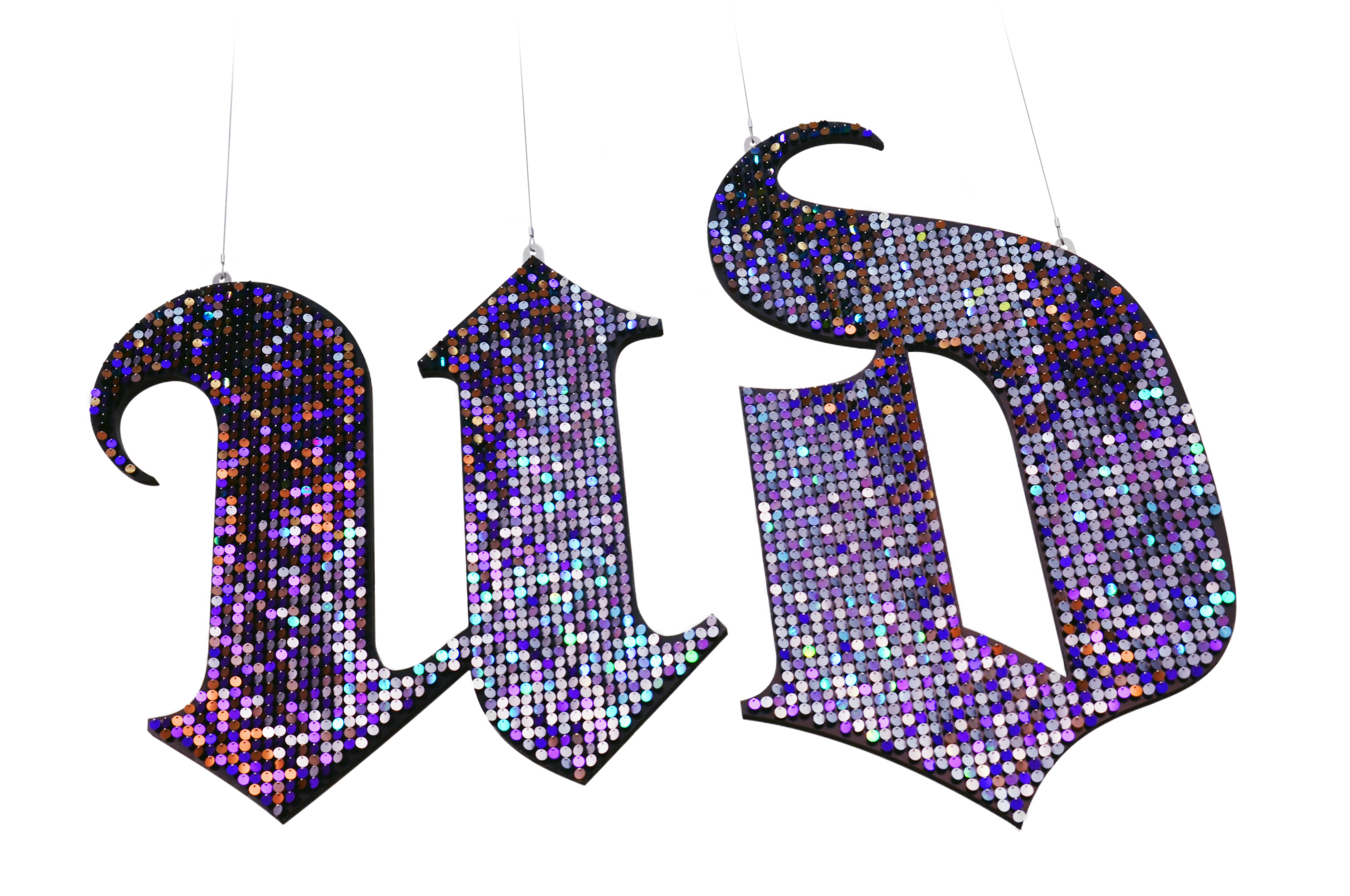 URBAN DECAY  Custom-cut hanging logo