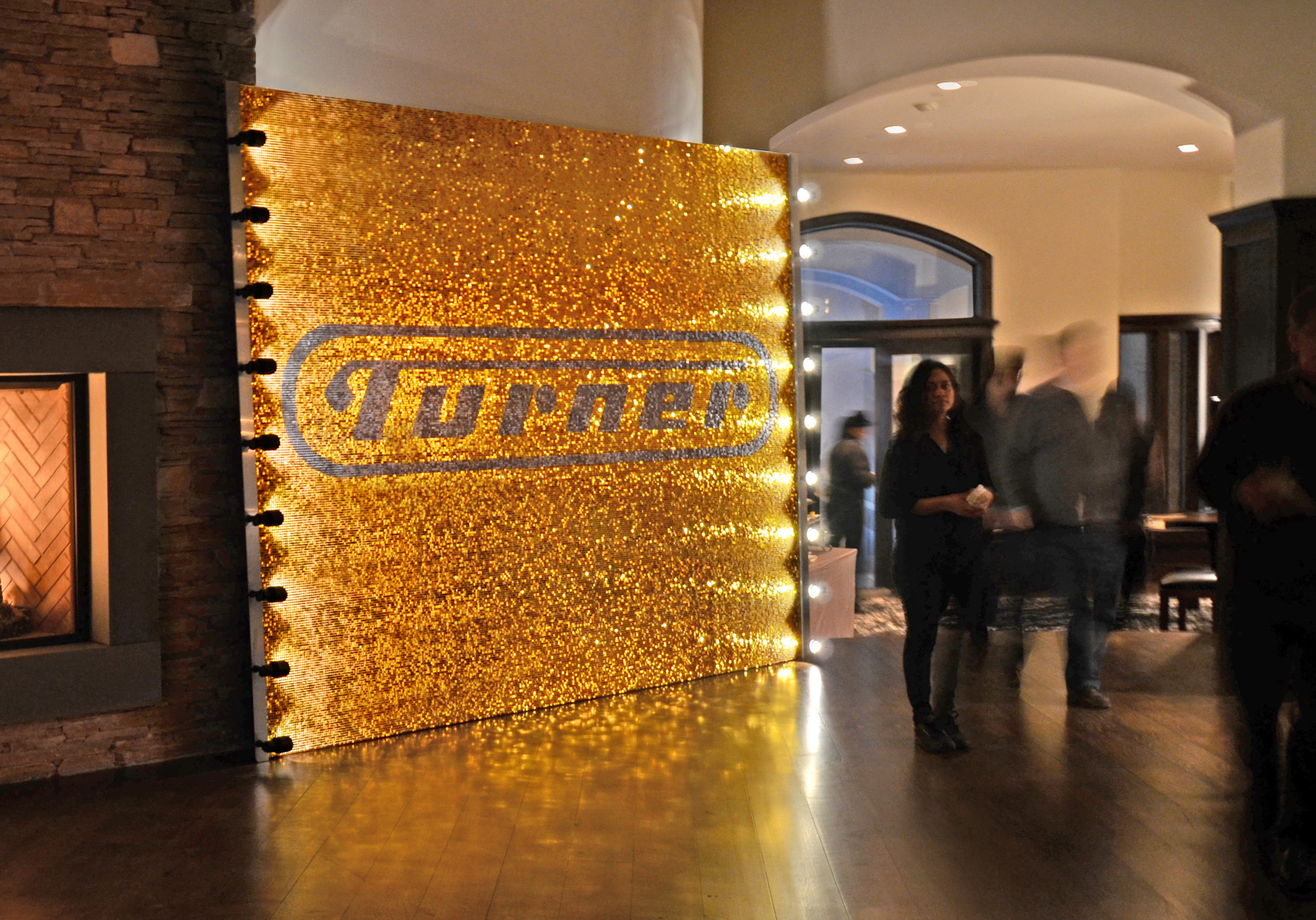 TURNER  Glittering backdrop for 2014 Sundance Film Festival party