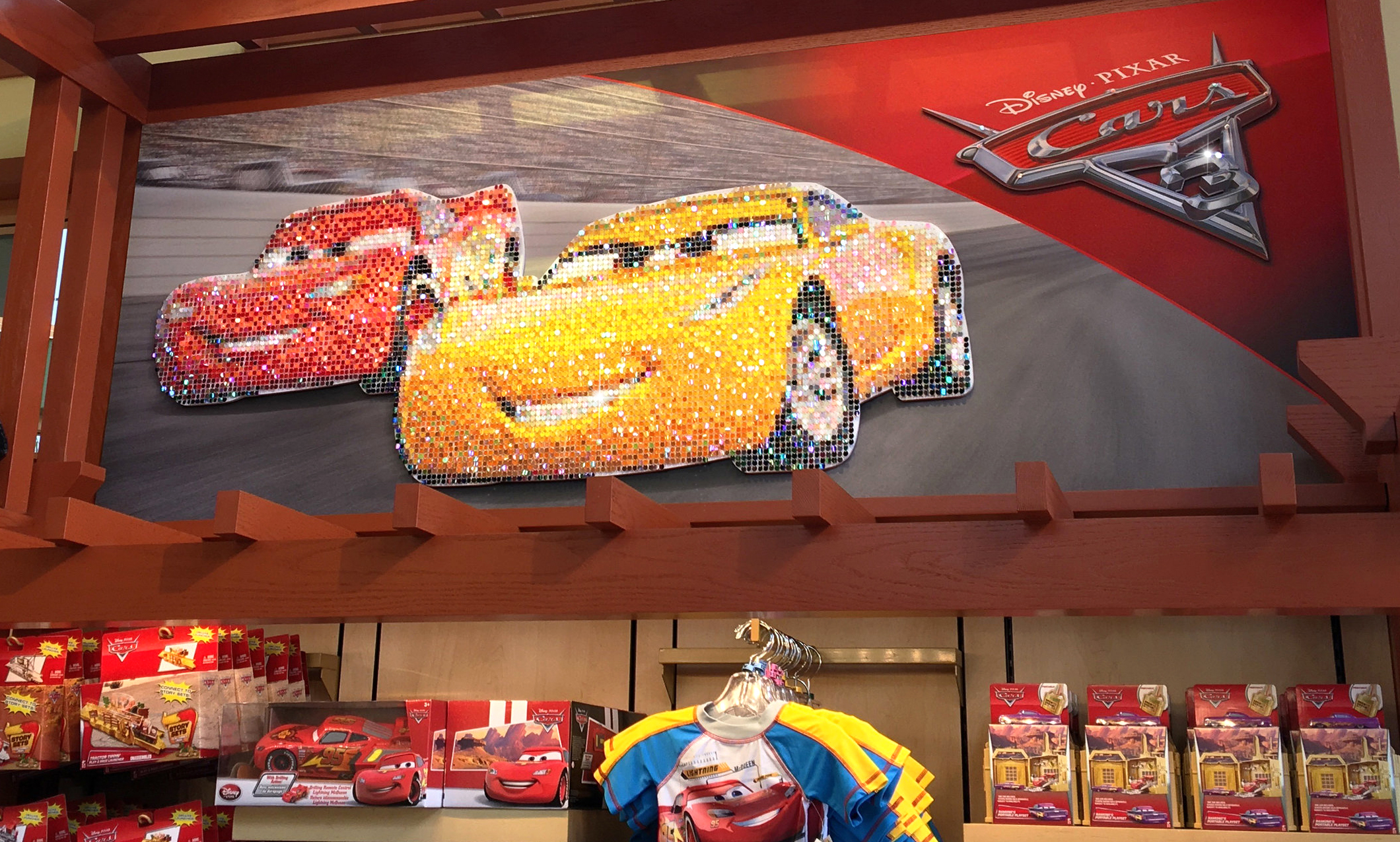 DISNEYLAND RESORT  Disney/Pixar Cars 3 display at World of Disney Store