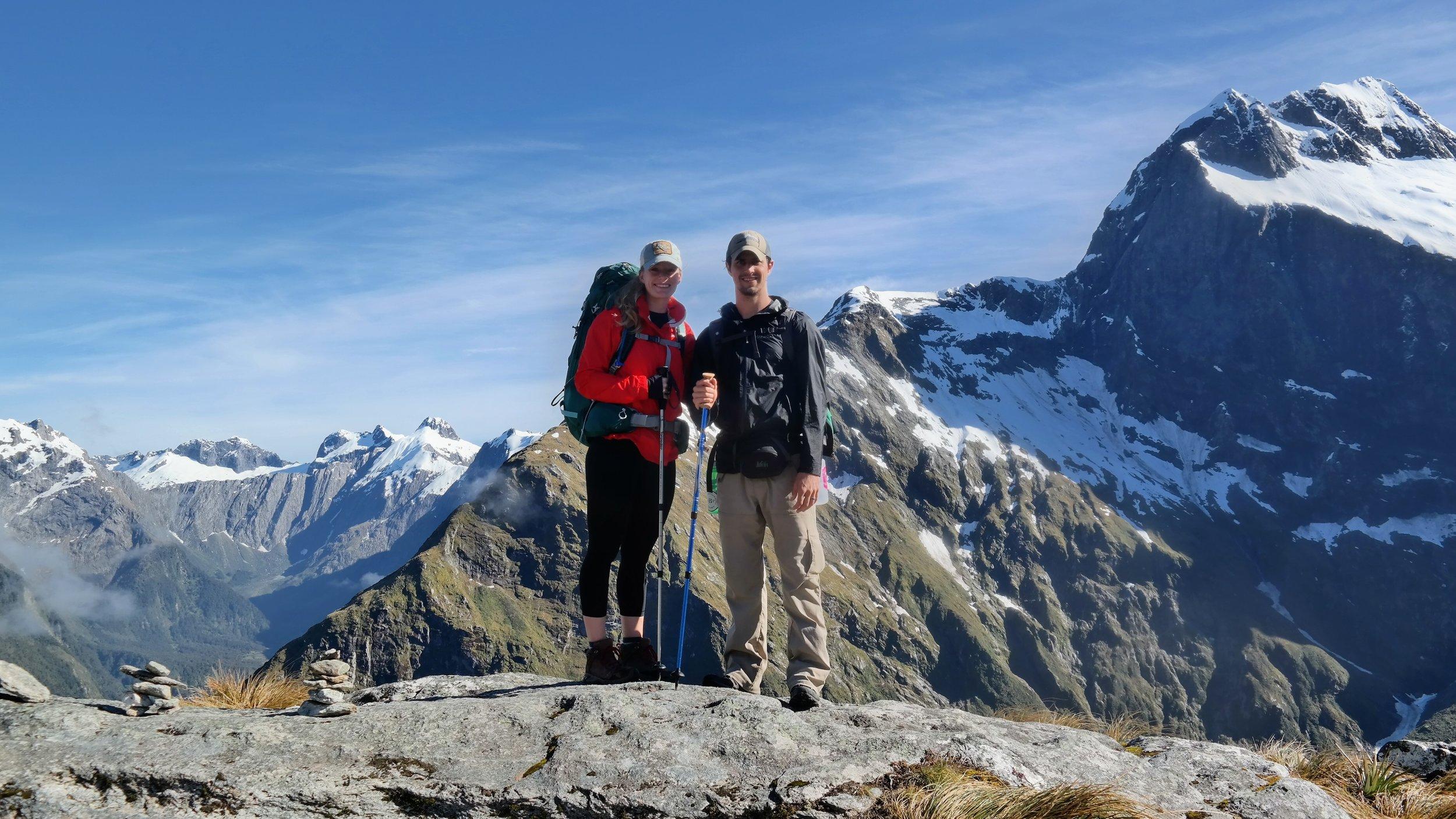 On Mackinnon Pass, elevation 1,154 meters