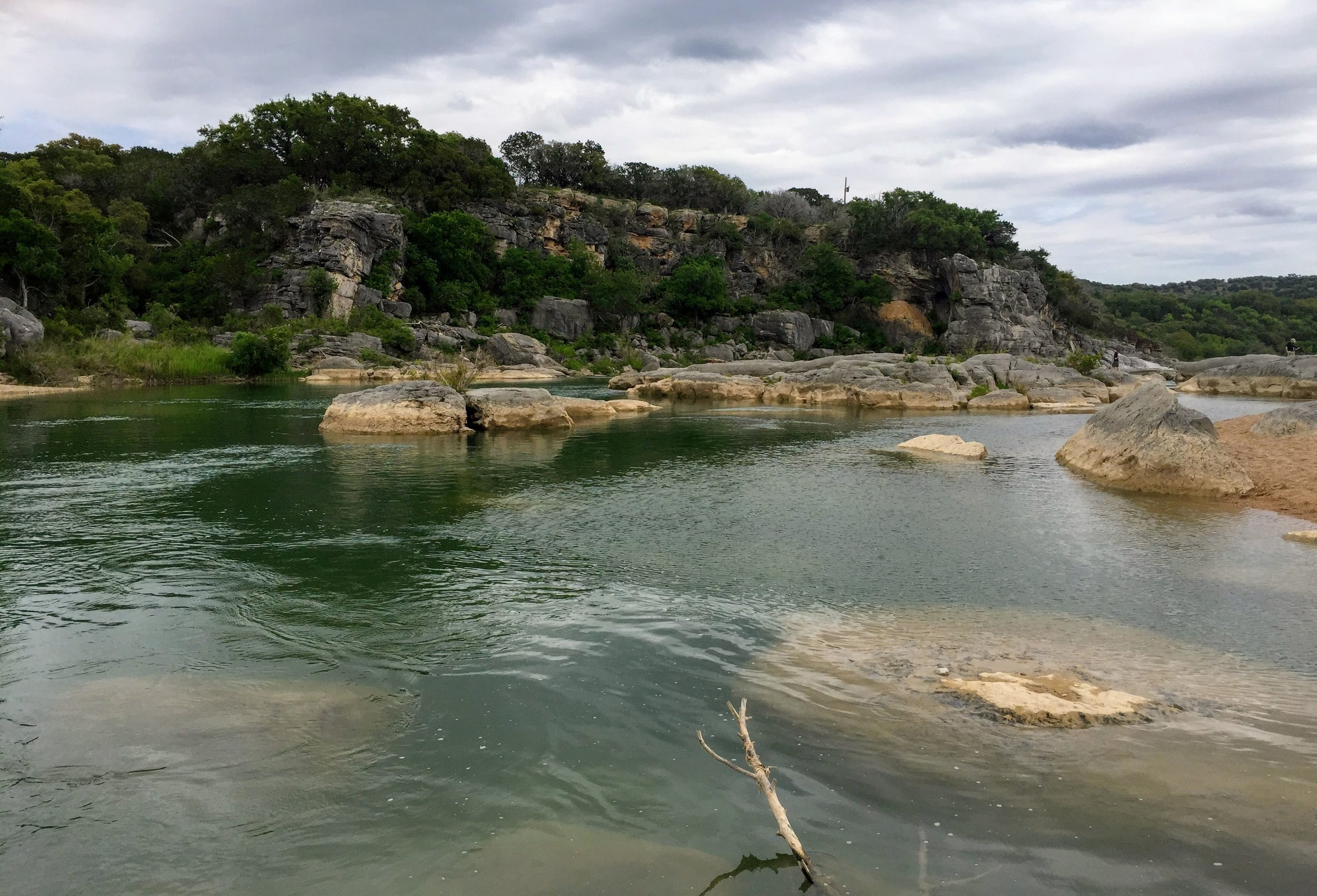 The Pedernales River right before the Falls