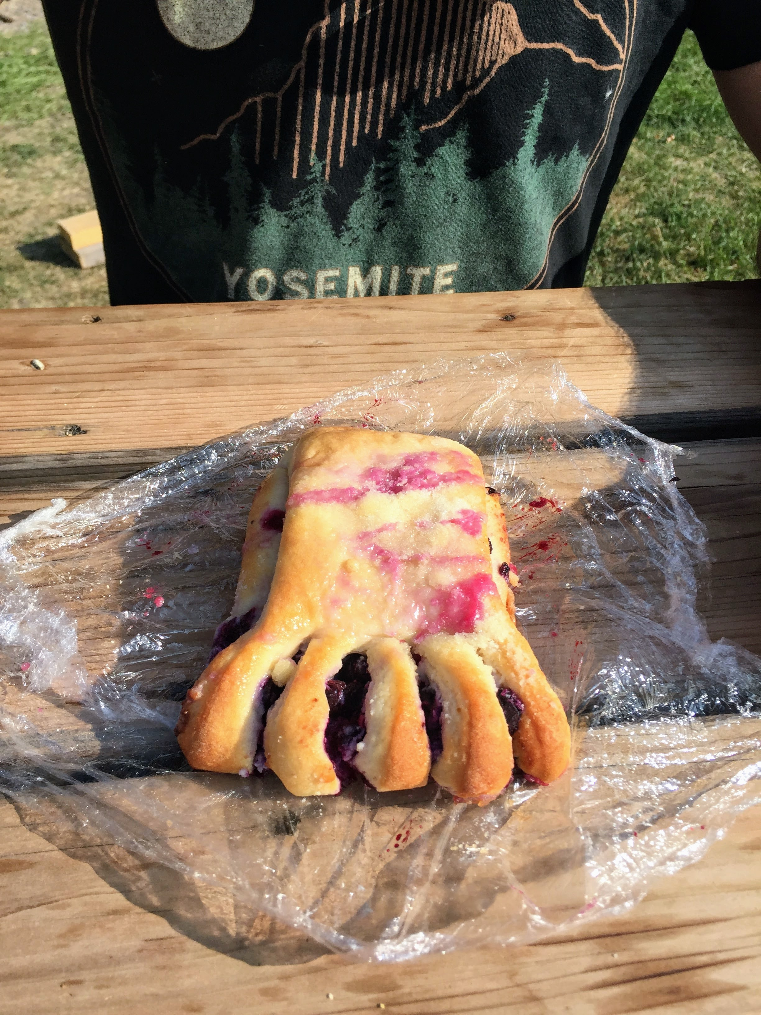 Bear Claw that's actually shaped like a bear claw
