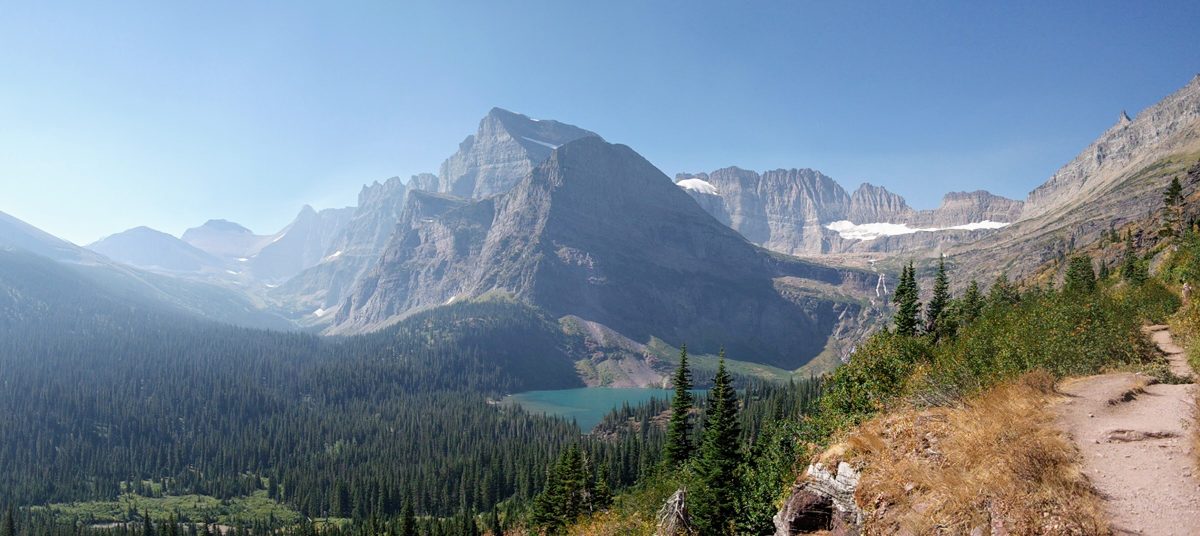 Approaching Lower Grinnell Lake