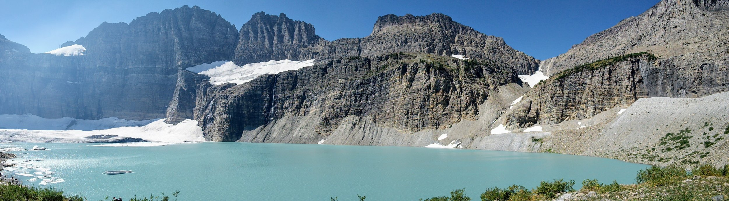 Upper Grinnell Lake with view of Grinnell Glacier on lefthand side