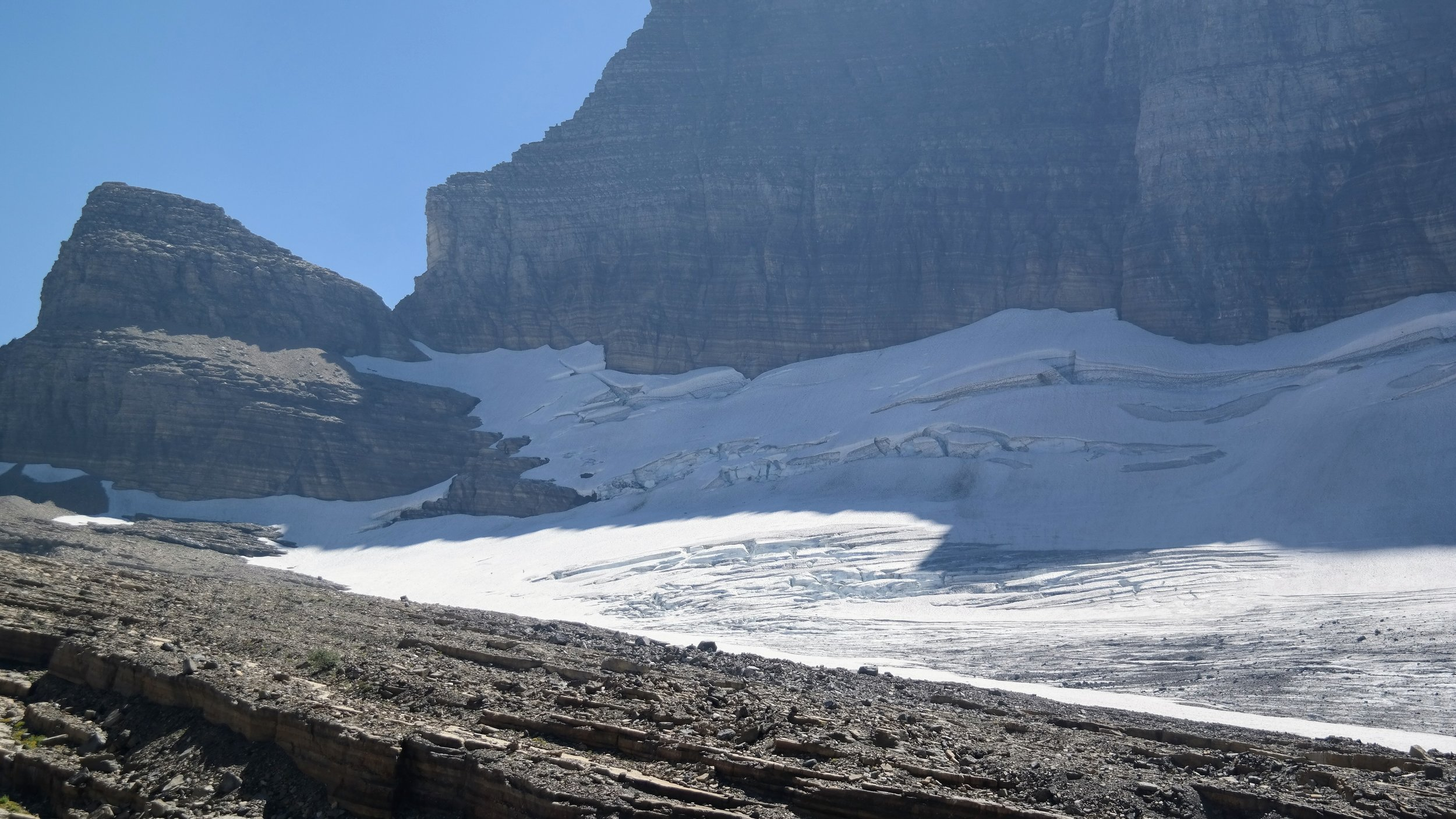 Close up photo of Grinnell Glacier