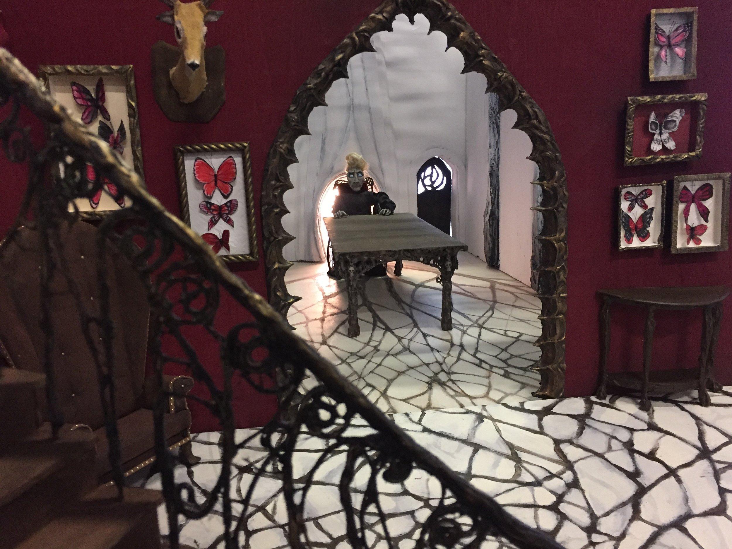 "Miniature set for stop-motion short film ""House of Bones"" (in progress)"