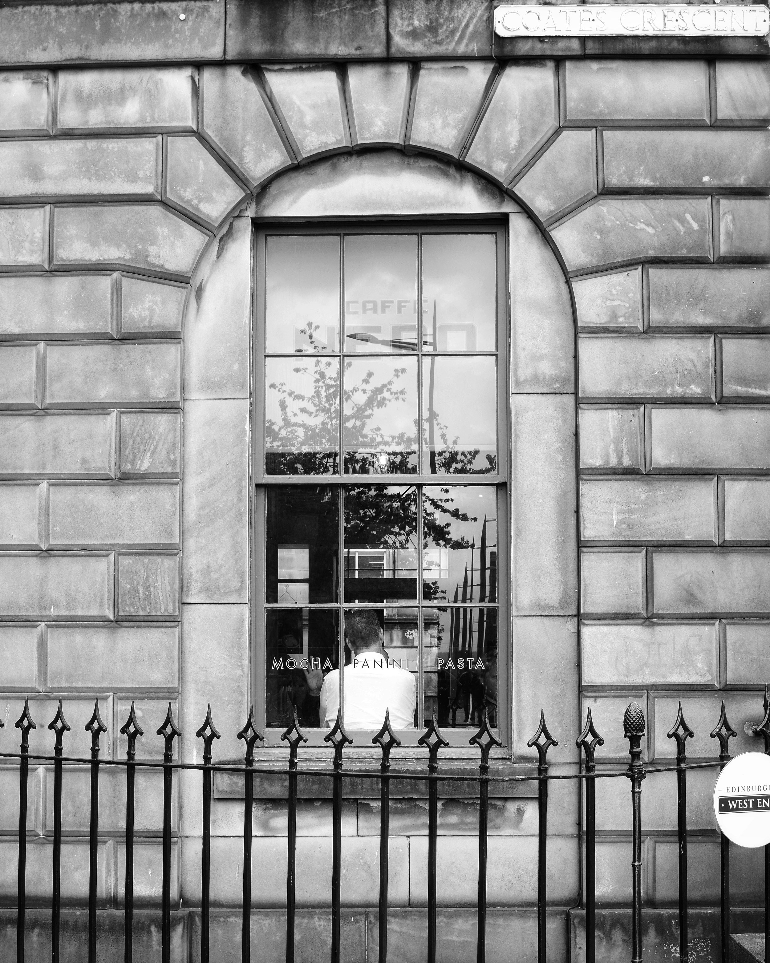 Flat Black & White (Caffè Nero, Edinburgh, Scotland)