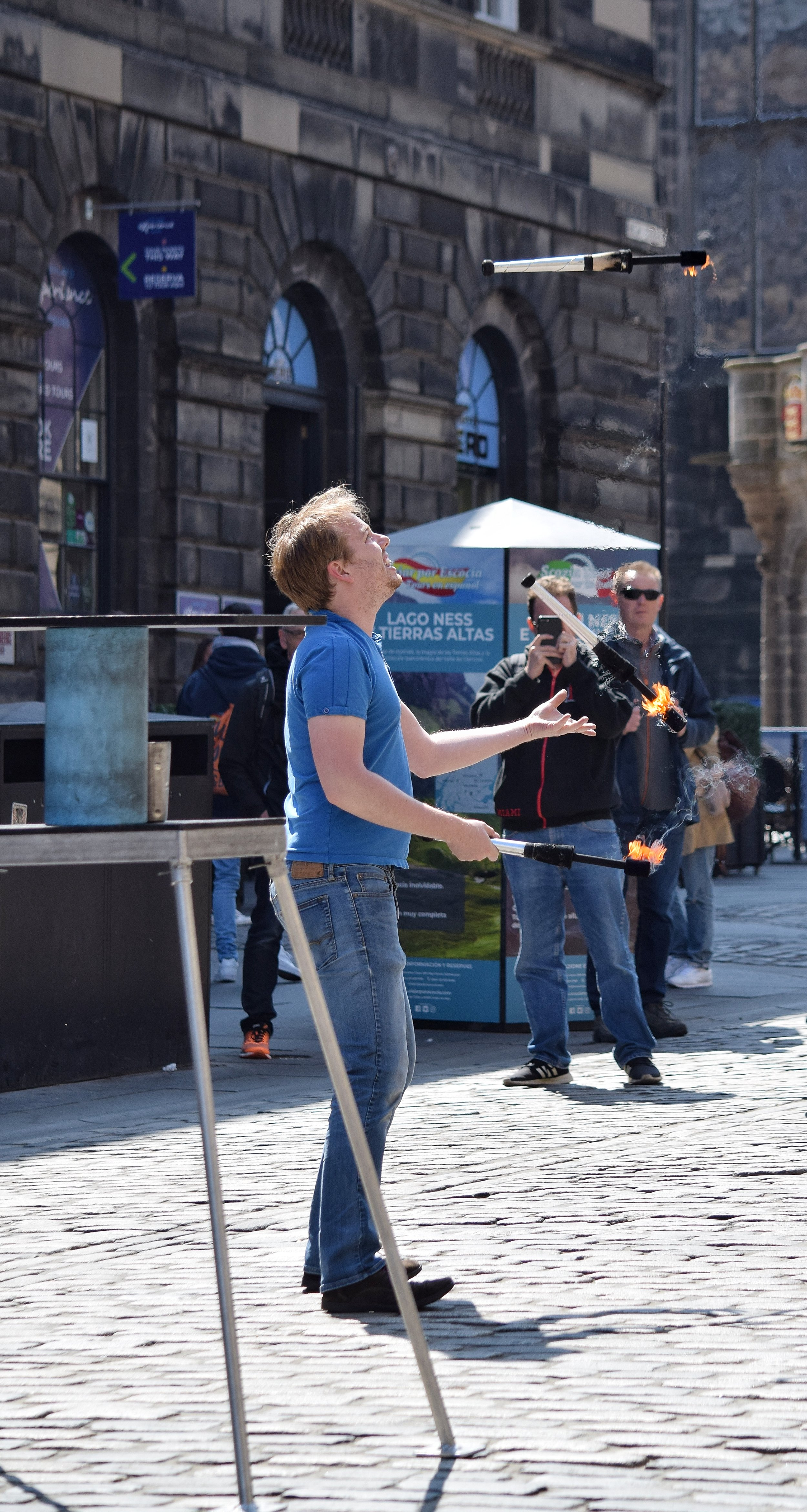 Playing With Fire (The Royal Mile, Edinburgh, Scotland)