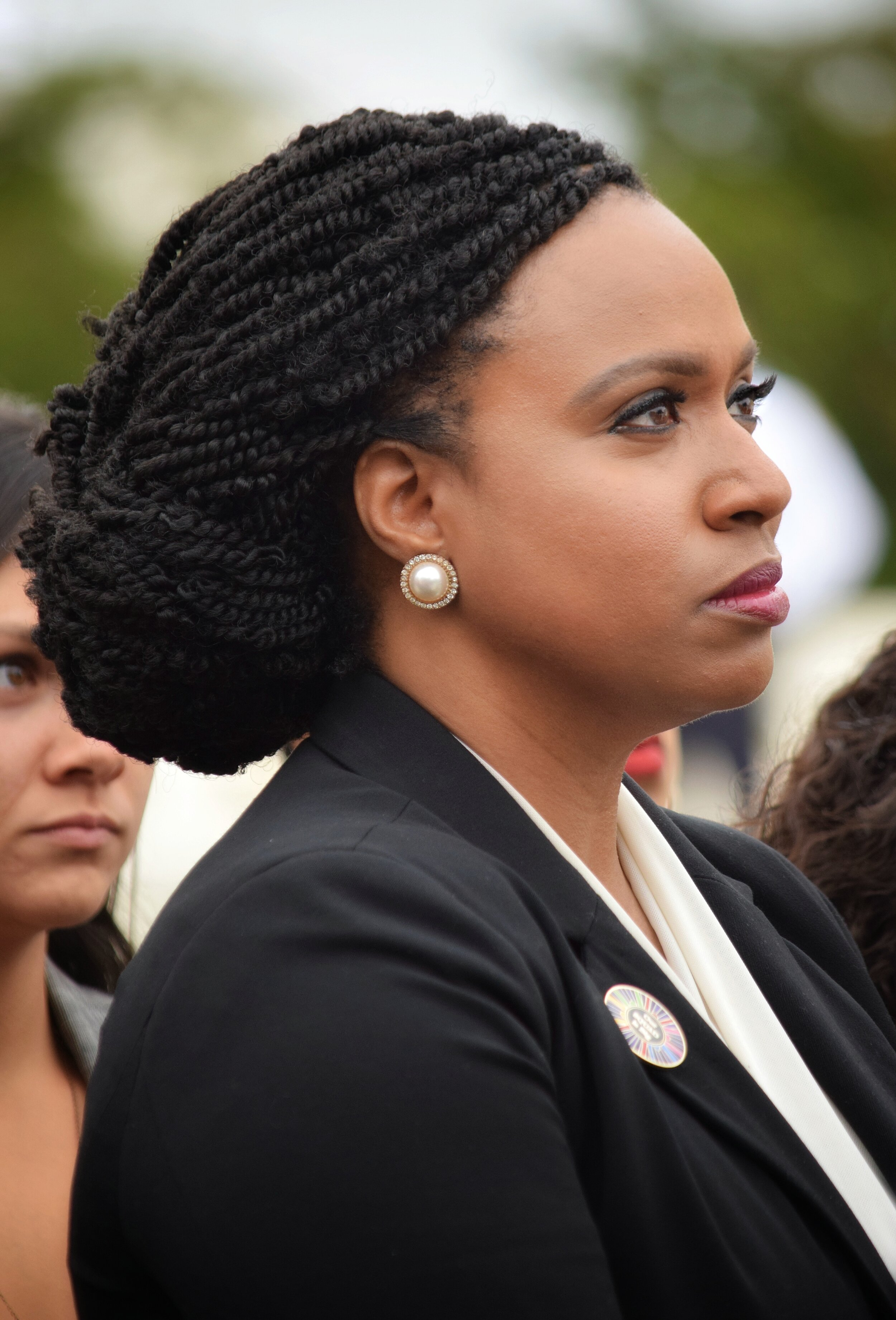 One of The Squad: Rep Ayanna Pressley at Women's March Reclaim The Court Action (October 2019)