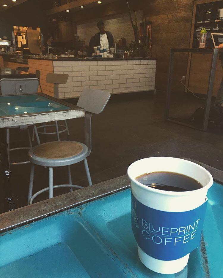 A Decaf Caldas & a beautiful coffee shop - all at Blueprint Coffee.