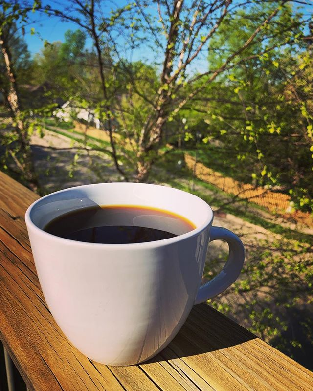 Sunny Sunday morning, back porch relaxing, drinking some #decafcoffee roasted by @stringbeanpete kind of vibes. . . . #decaf #decafanation #coffee #sundayvibes #coffeegram #coffeeporn #coffeelove #coffeelover #coffeelovers #coffeetime #morningcoffee #coffeegeek #coffeecoffeecoffee #instacoffee #instagood #coffeegram #coffeeholic