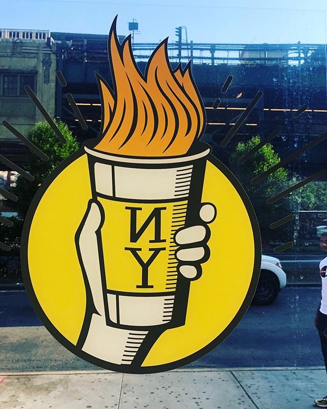 Not only did they have a cool logo, but they had a tasty #decafamericano also! . . . #coffee #coffeecup #coffeeart #coffeelove #coffeelover #coffeelovers #instacoffee #coffeegeek #coffeegram #decaf #decafcoffee #decafanation #coffeetime #coffeeshop #nyc #nycoffee #morningcoffee