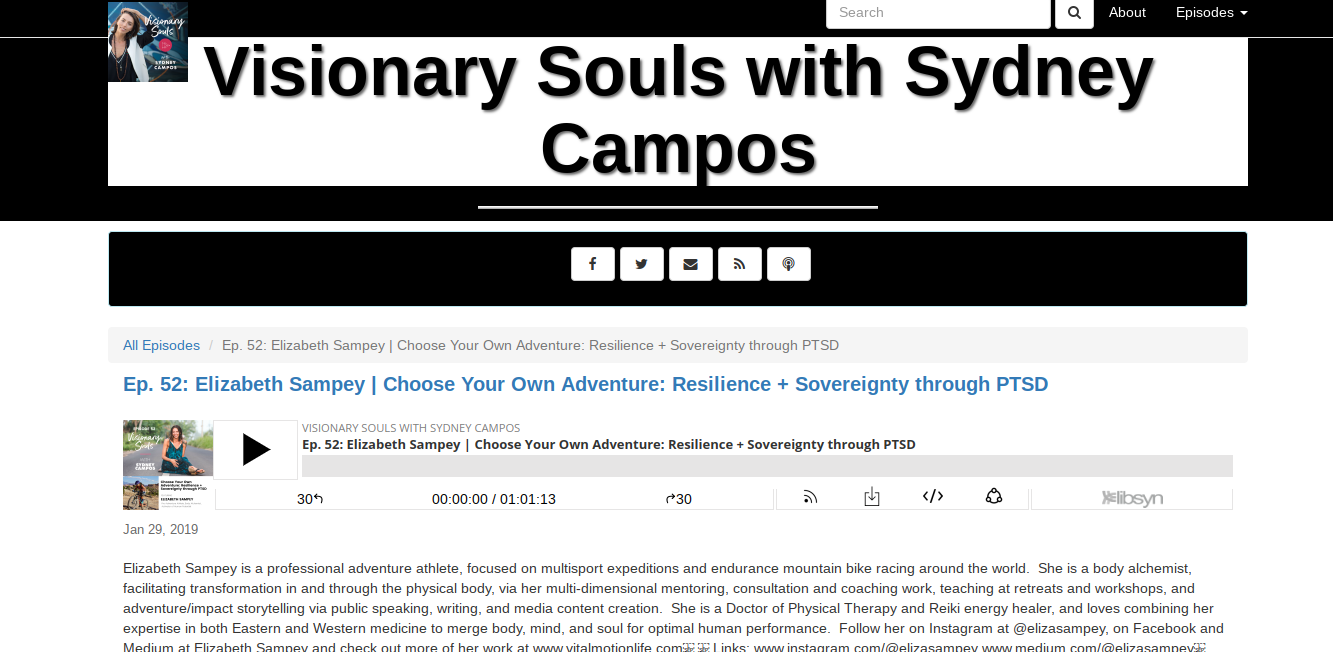 I go DEEP with my dear friend Sydney Campos on her Visionary Souls podcast talking about some of my greatest challenges to date and how they have become my most treasured gifts. We talk about limiting beliefs, trauma, and old wounds and how it's possible to rewrite our stories and transform our lives.