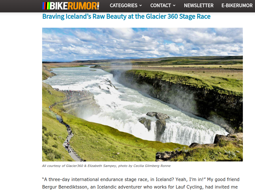 I wrote an article for BikeRumor magazine about my experience racing the Glacier 360 Stage Race in Iceland with my teammate Bergur Benediktsson. This was my second time in Iceland, I'm so grateful to have had the opportunity to spend time here. This place is wild and stunning, check out the story and photos!