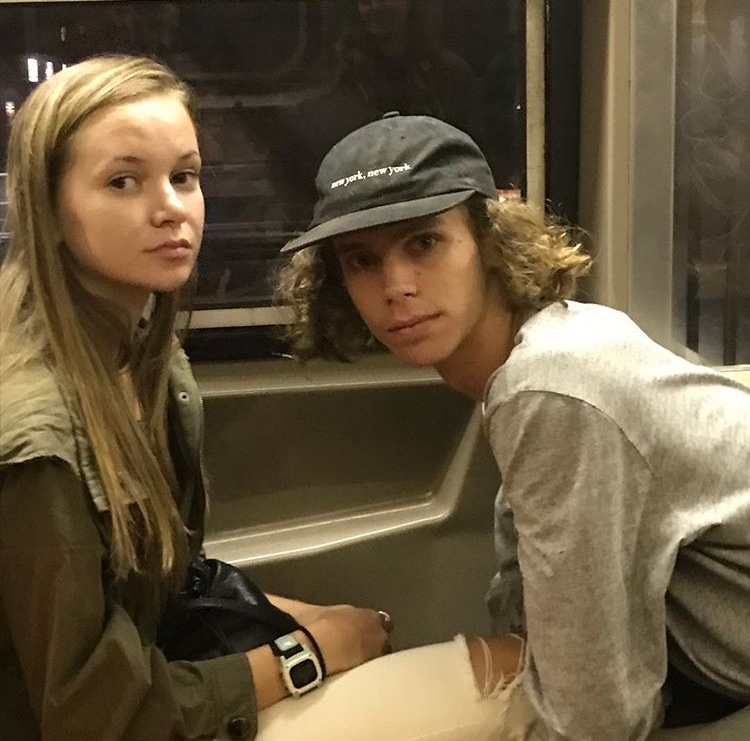 Lea + Luke on the subway