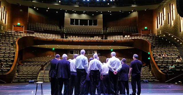 In New Philadelphia where cattle graze, on this stage we'll spend most of our da.........approximately 25-30 minutes. Until then, we're just chillin' out, maxin', relaxin' all cool and ringing some chords inside of the school.  #Barbershop #FireInABucket #letsdothis . . . #music #harmony #passion #stage #performance #quartet #freshprinceofbelair #ohio #singing #showtime