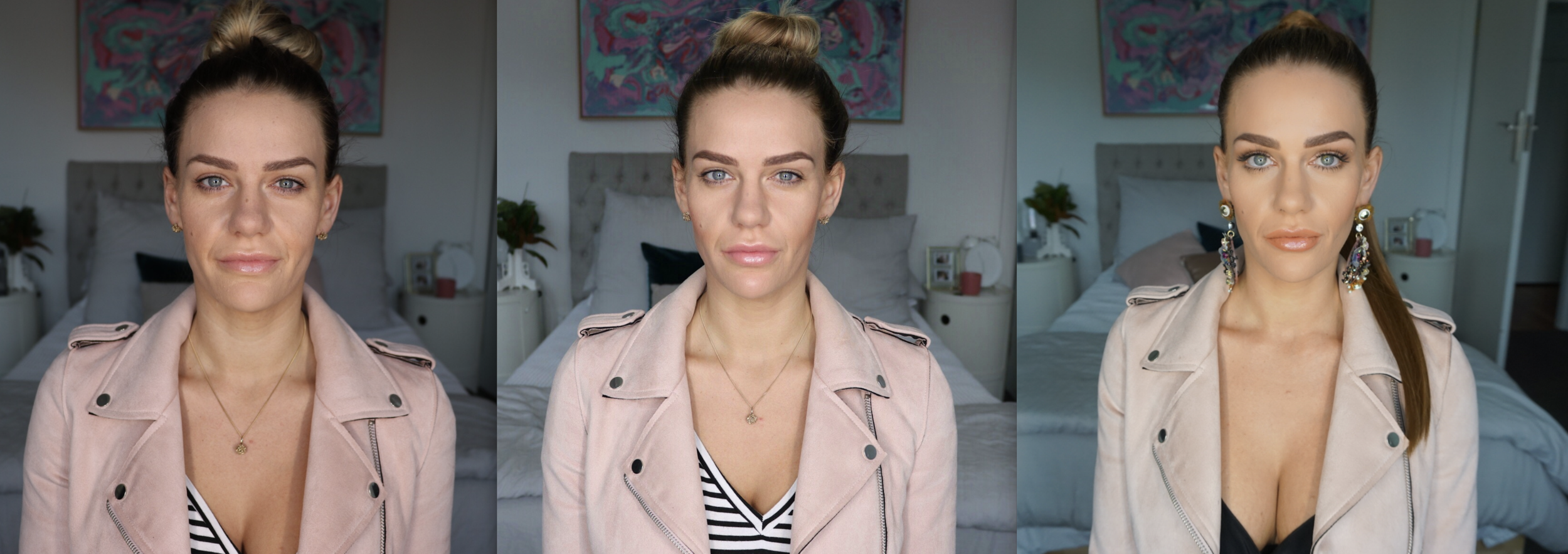 Images shown are before, straight after and then with makeup applied (only difference in images shown is a slight variation on the natural light which was out of my control)