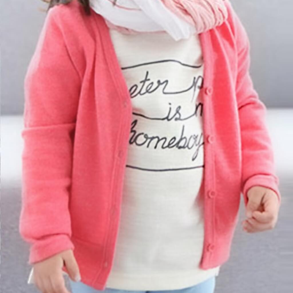 grey cardy - 30% off this too! - cute little girls cardy for kids 18 mths - 5 years