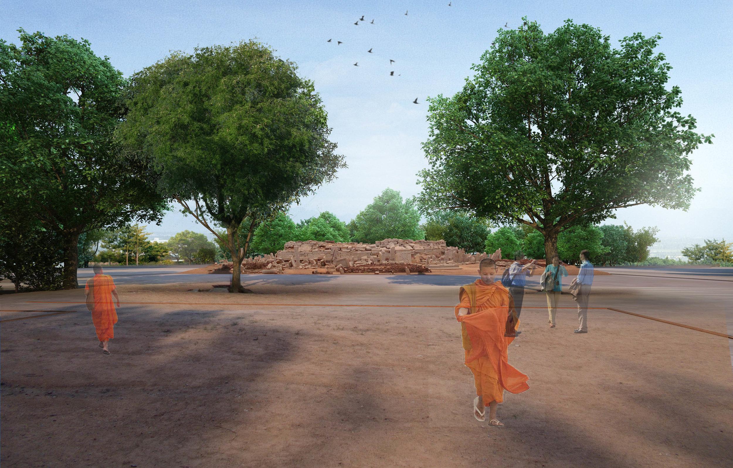Ficus-landscape-bangalore-sannati-buddhist-stupa-01