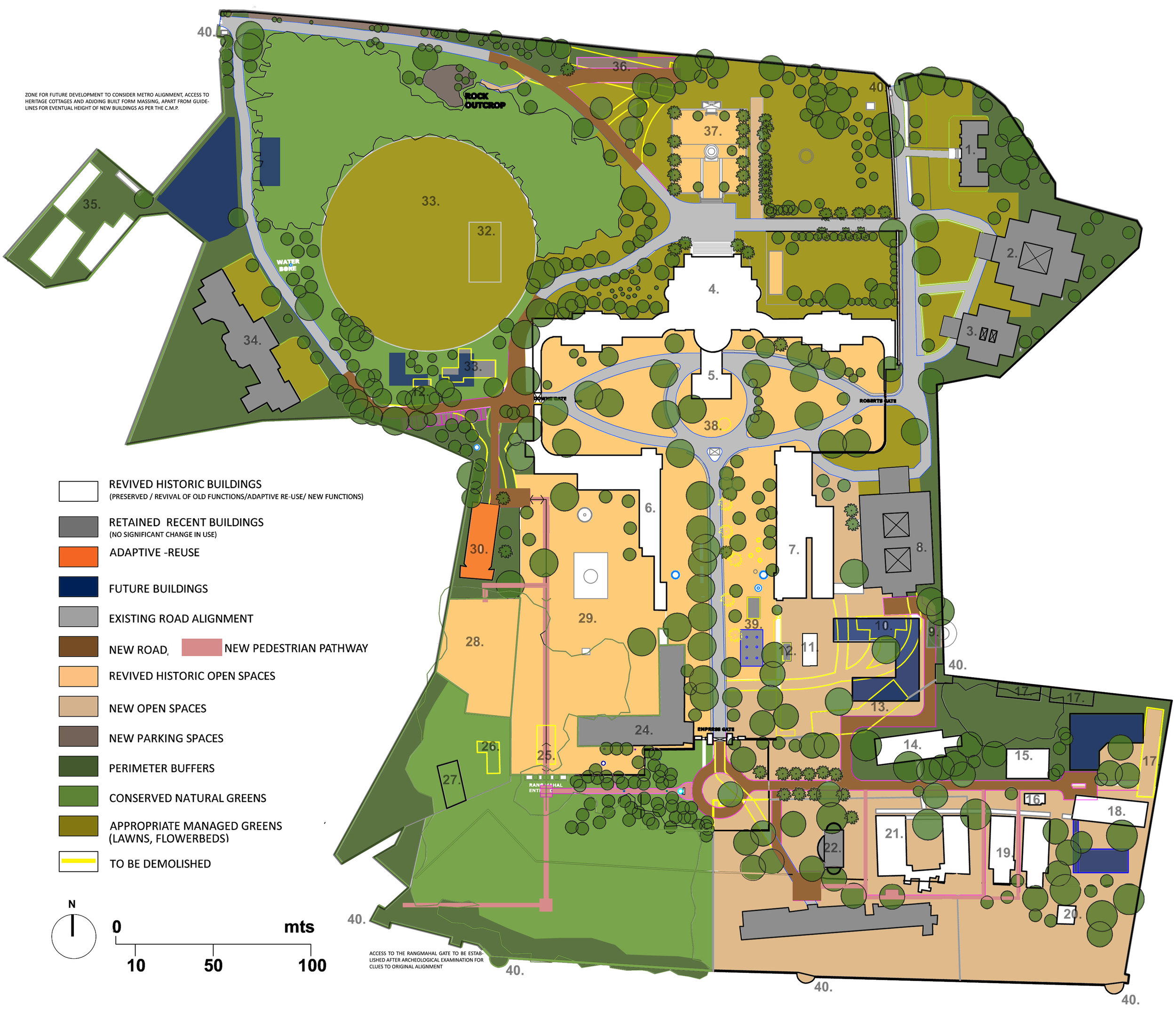 Open space development approach for The British Residency