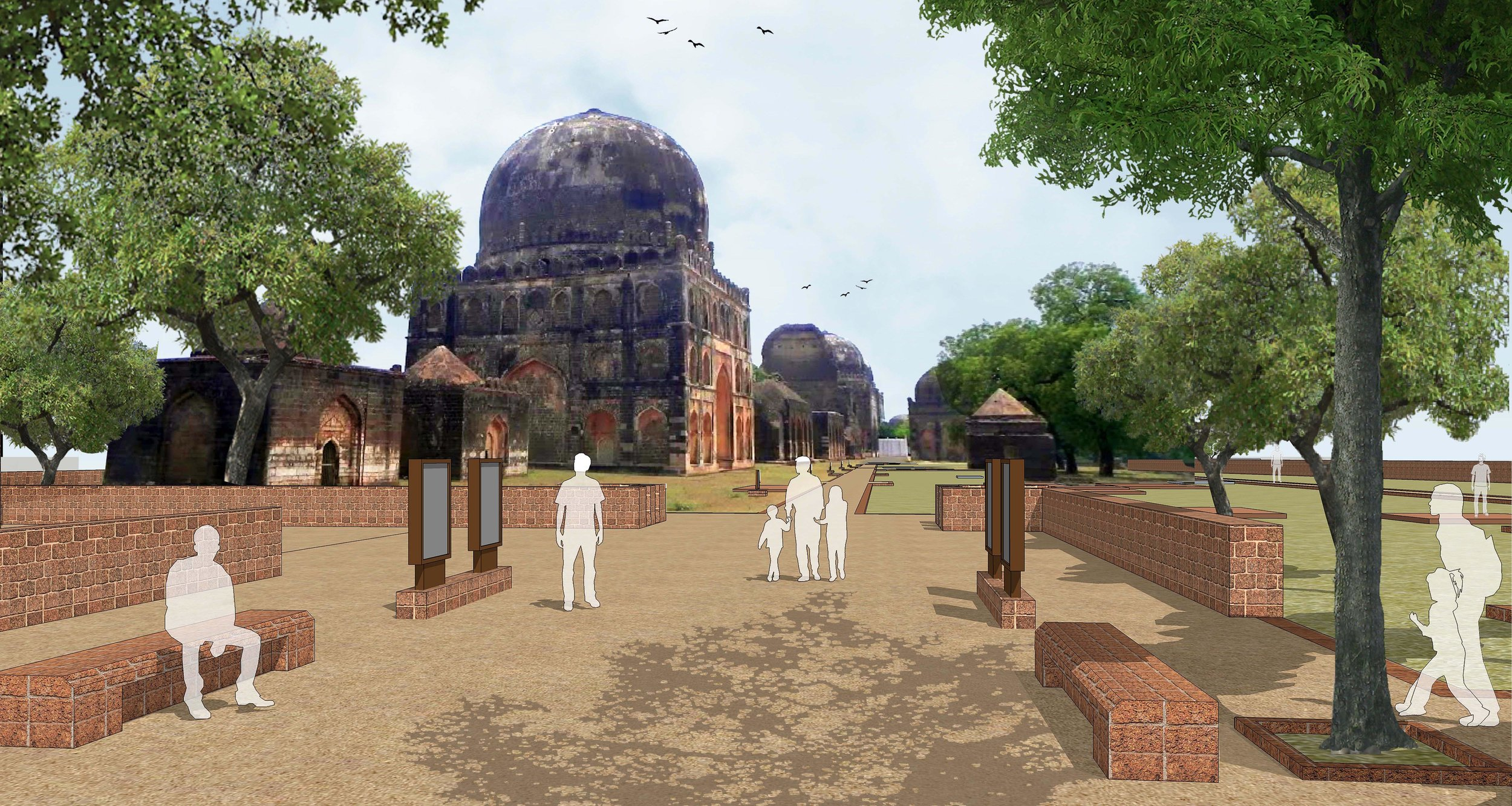 Ficus-landscape-bangalore-bahmani tomb-ASH-06
