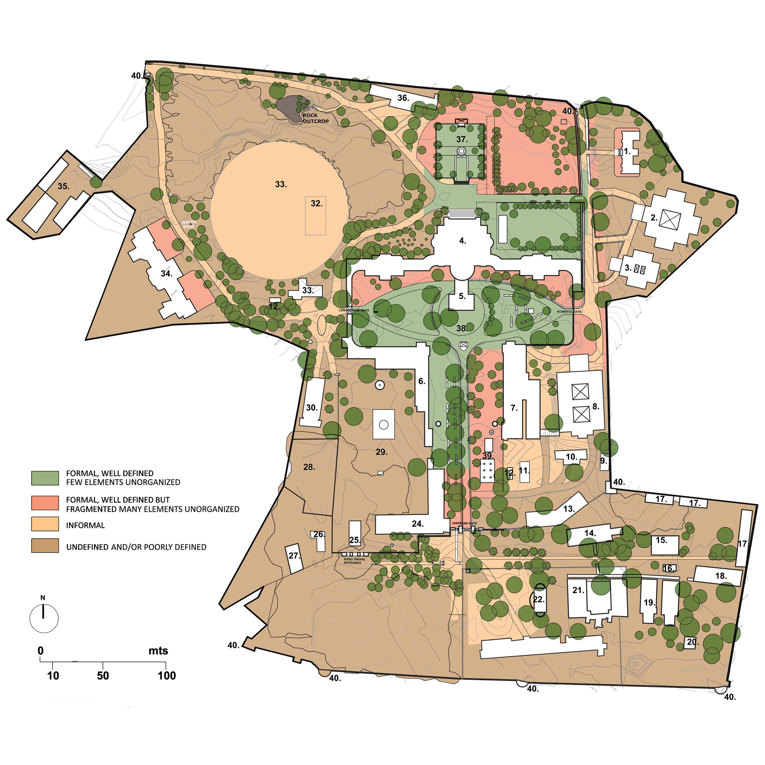 Landscape Design for British residence- heritage building- planting plan