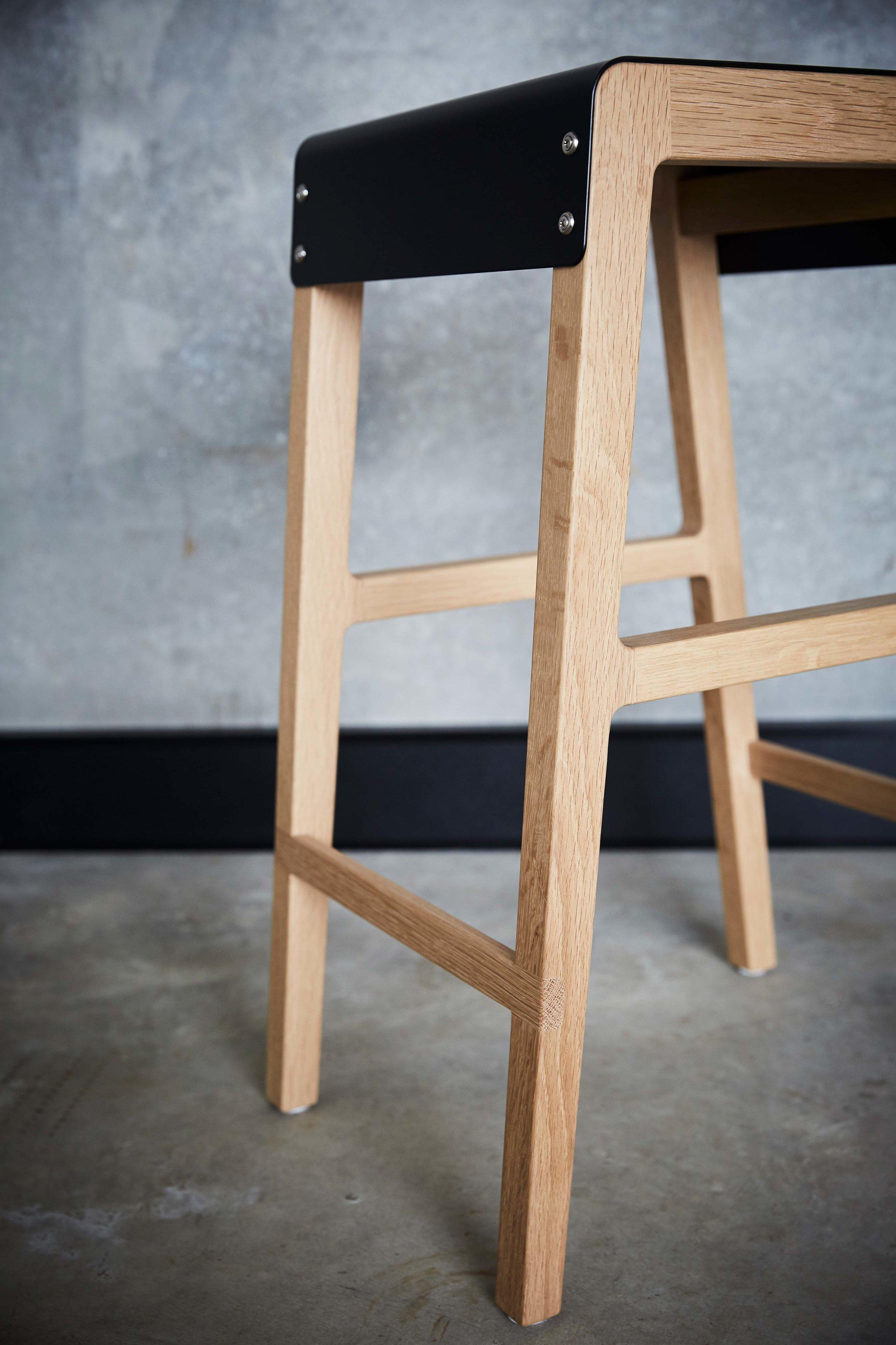 Willox Barstool 01 by Mast Furniture. Modern, handmade furniture.