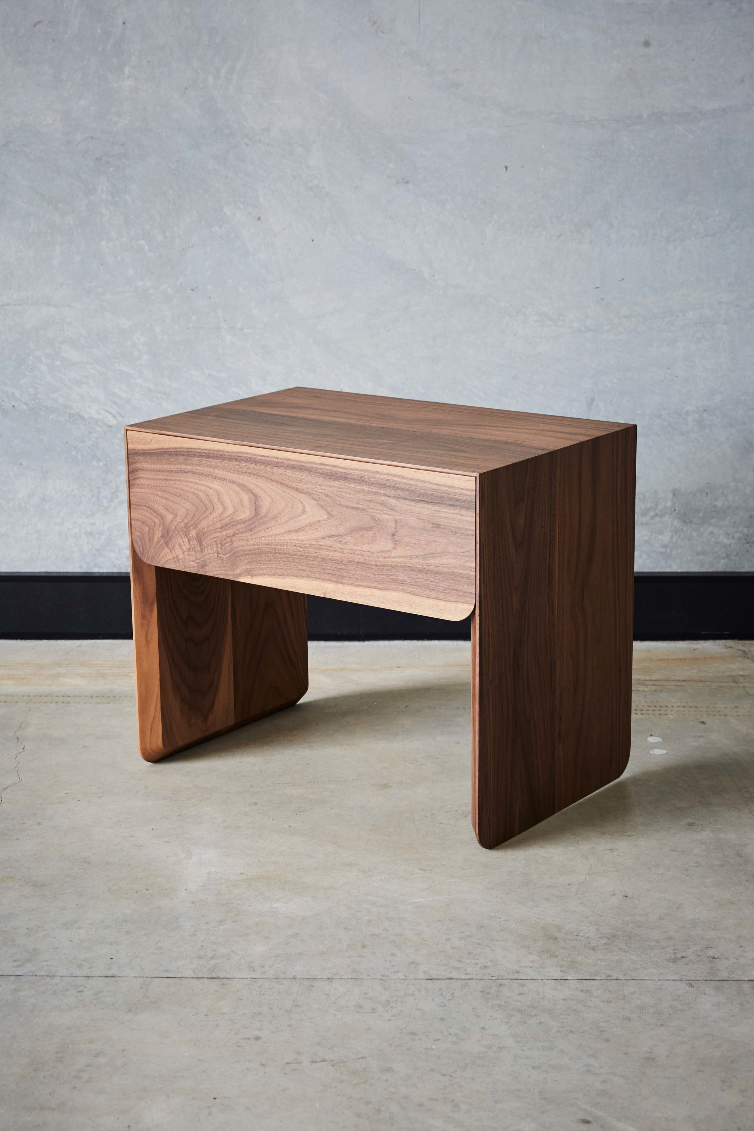 Tacey bedside tables by Mast Furniture. Modern, handmade furniture.