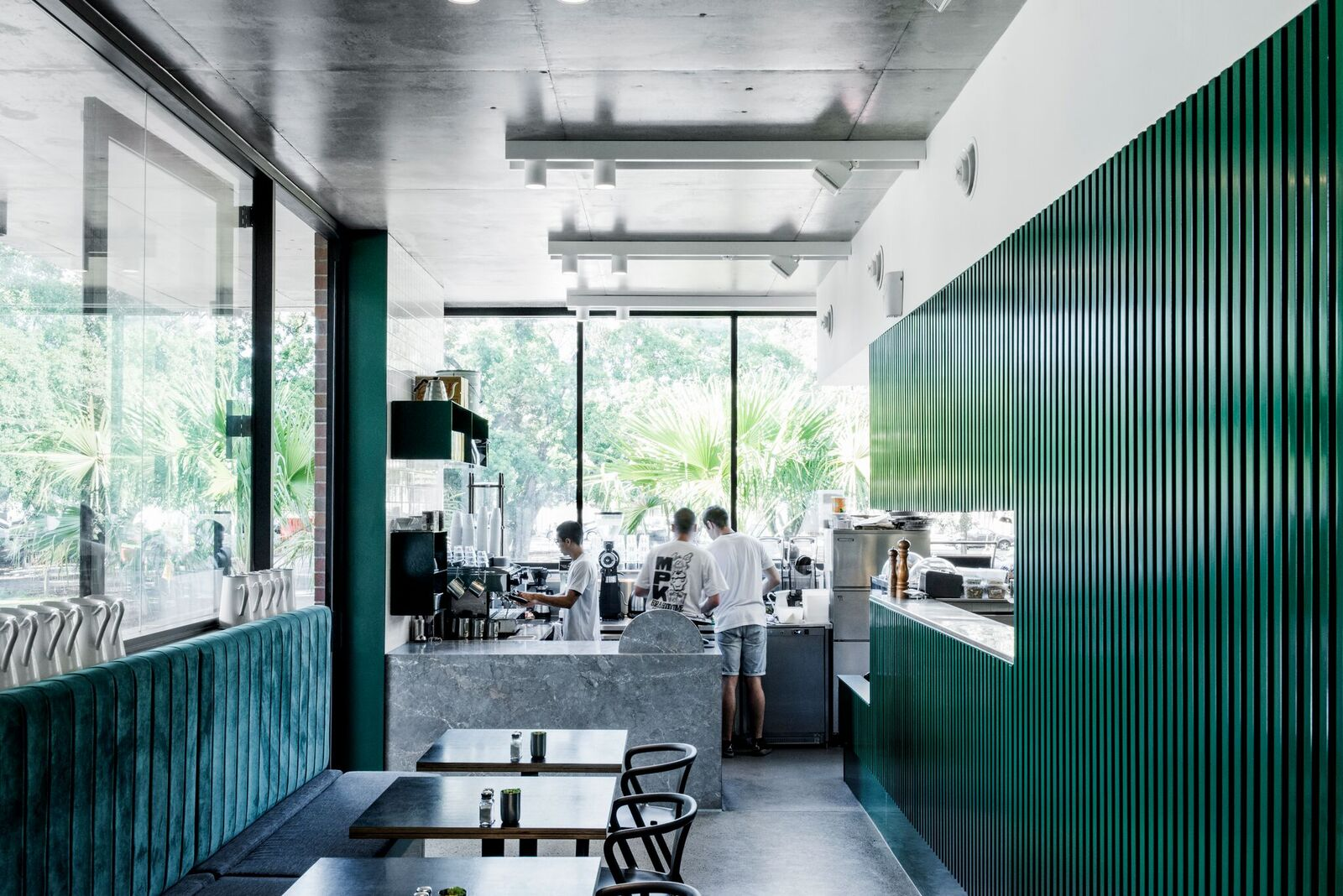 Pitch and fork Cafe. Interior Design:  Georgia Cannon  |  Image:  Cathy Schulser