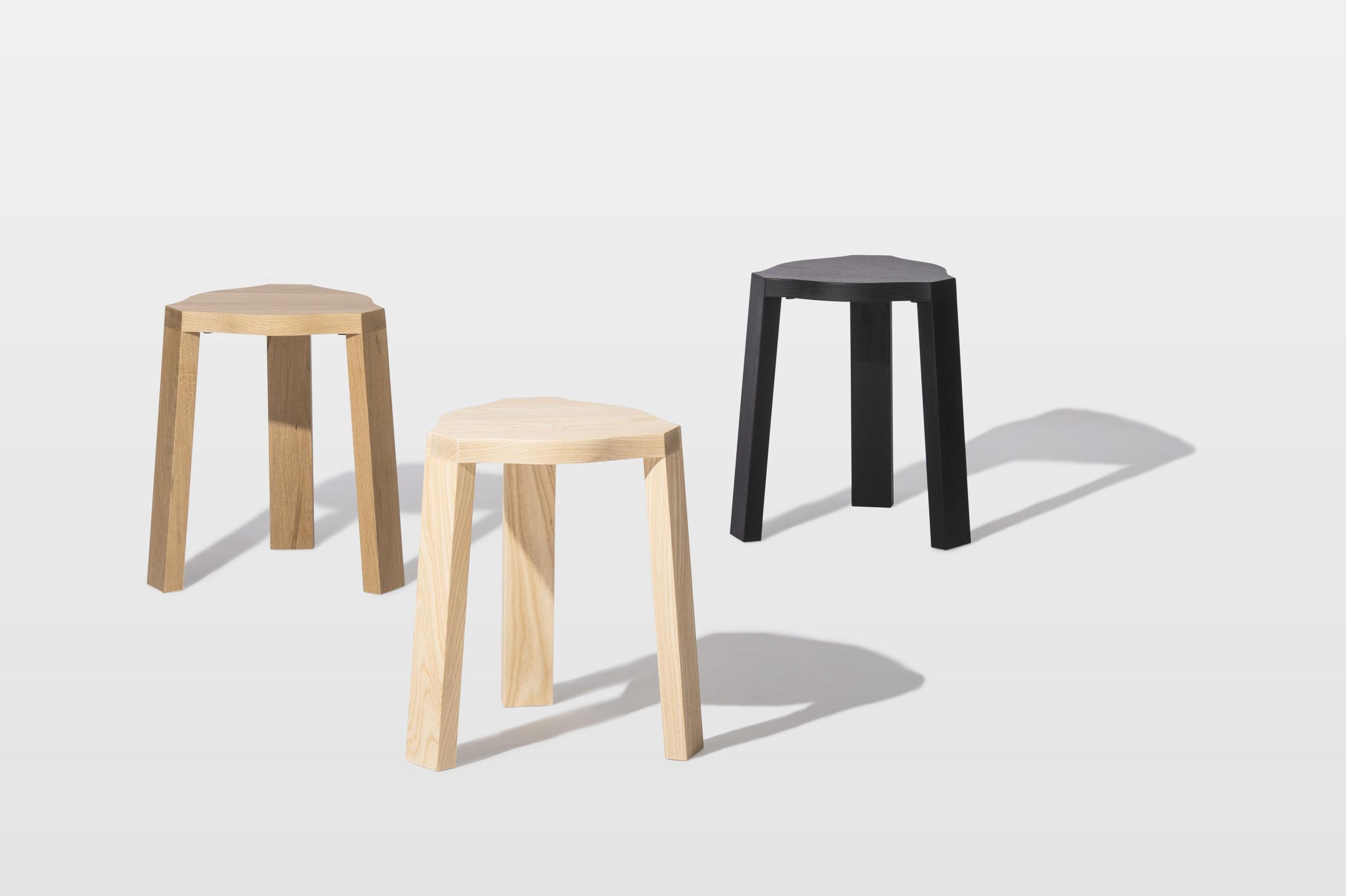 Base Stacking Stool by Mast Furniture. Modern, handmade furniture.
