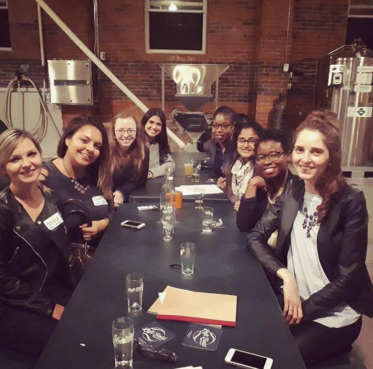 Pictured: Our group from the October networking night