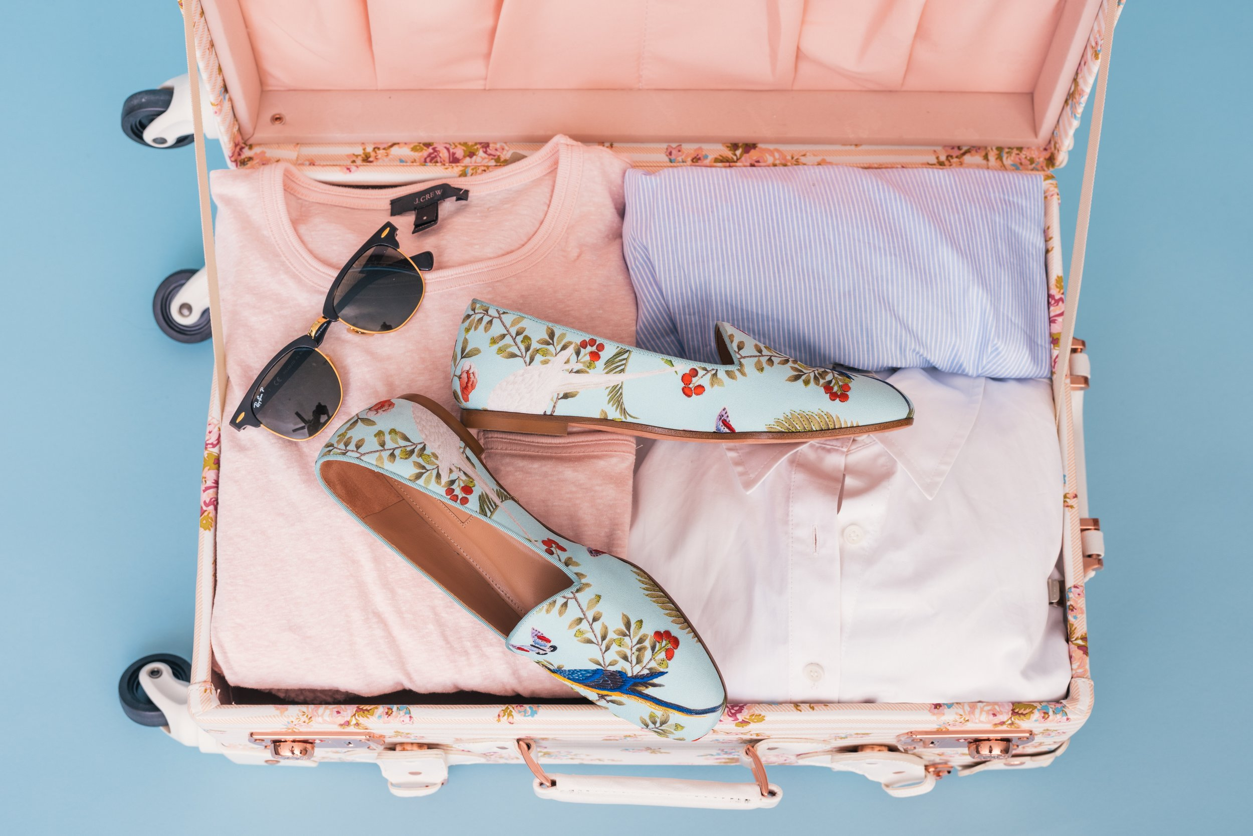 Pack all the essentials in your new carry on suitcase! (photography for illustration purposes only; contents not included)