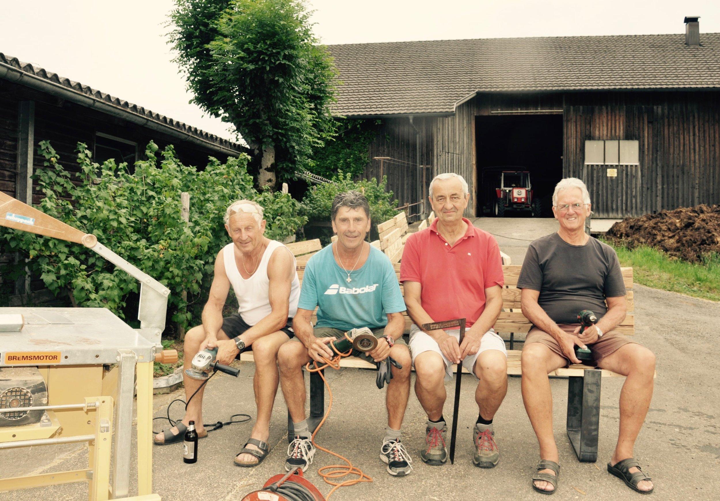 v.l.n.r.: Gerhard Lipburger, Josef Meusburger, Klaus Riedl, Konrad Lipburger