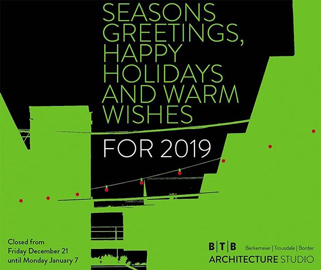 Merry Christmas from BTB Architecture Studio